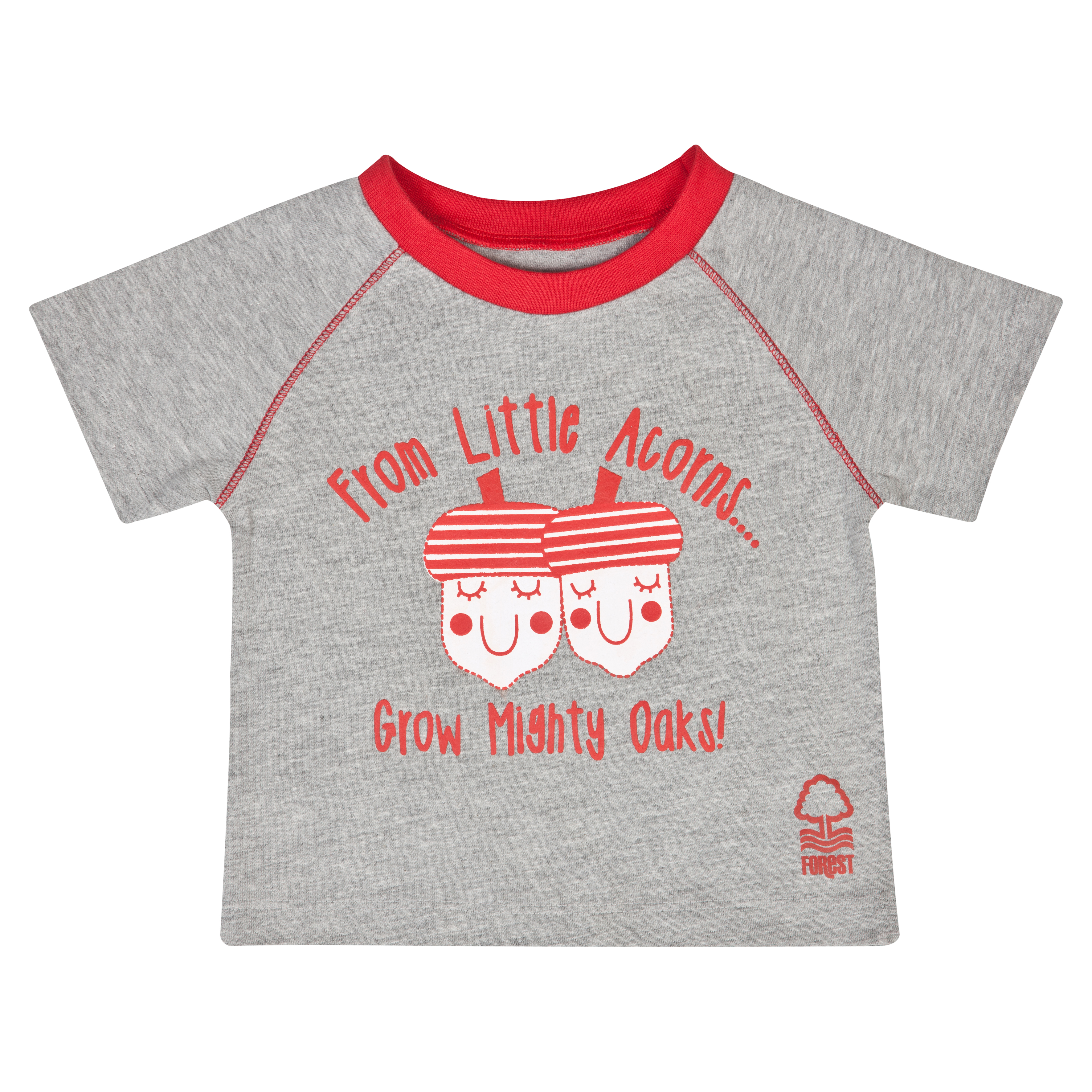 Nottingham Forest Acorns T-Shirt - Grey/Red - Baby