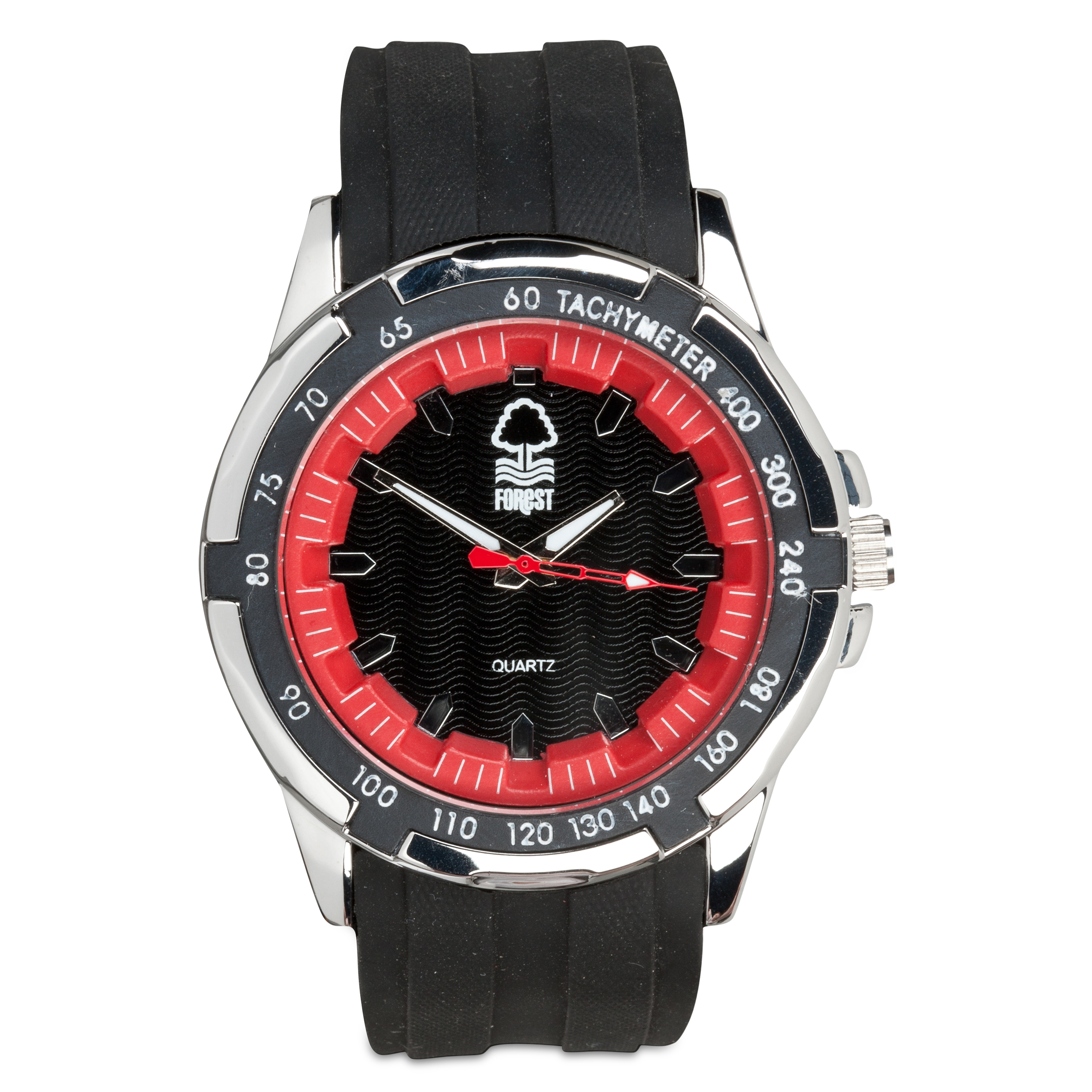 Nottingham Forest Mens Rubber Strap Watch