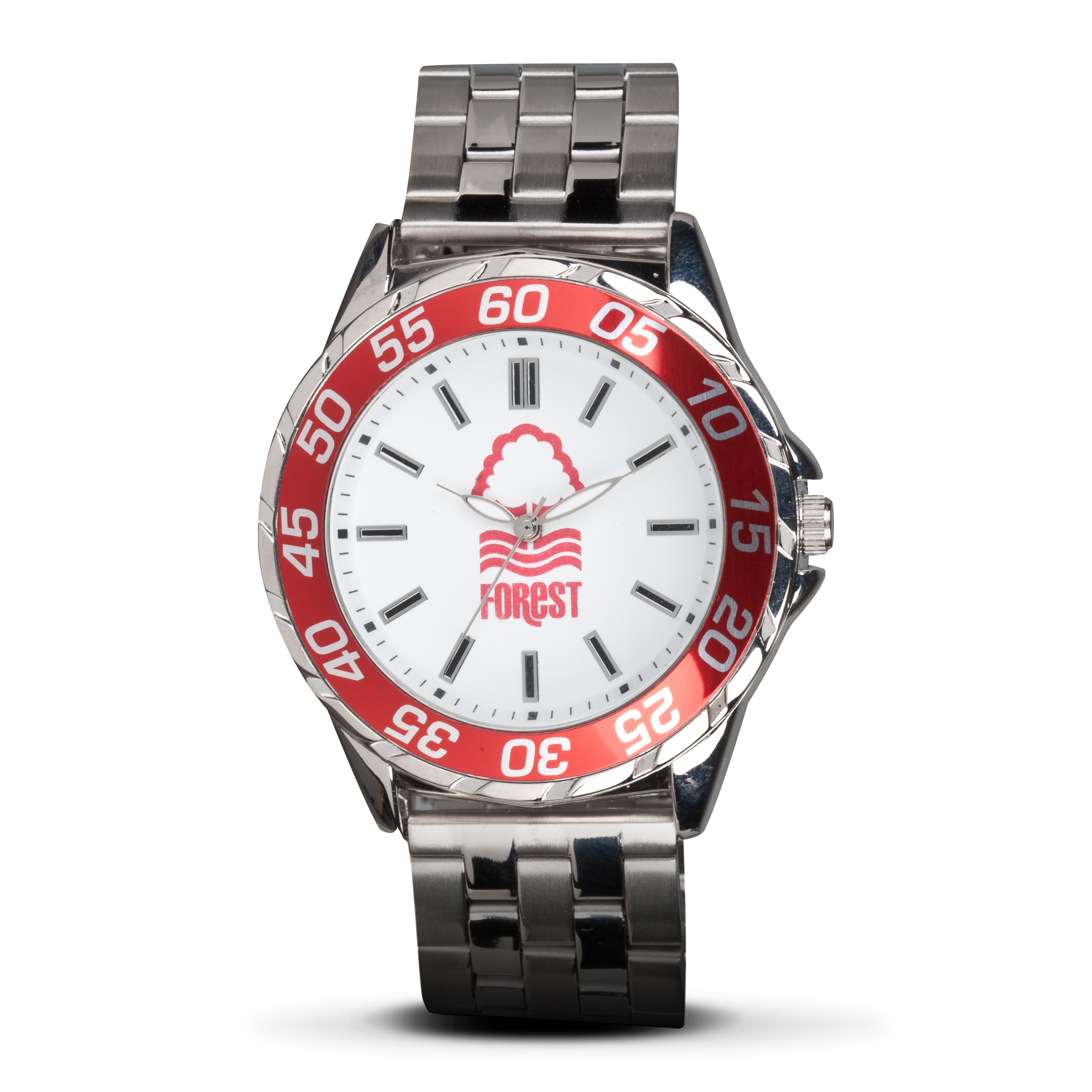 Nottingham Forest Mens Steel Bracelet Watch