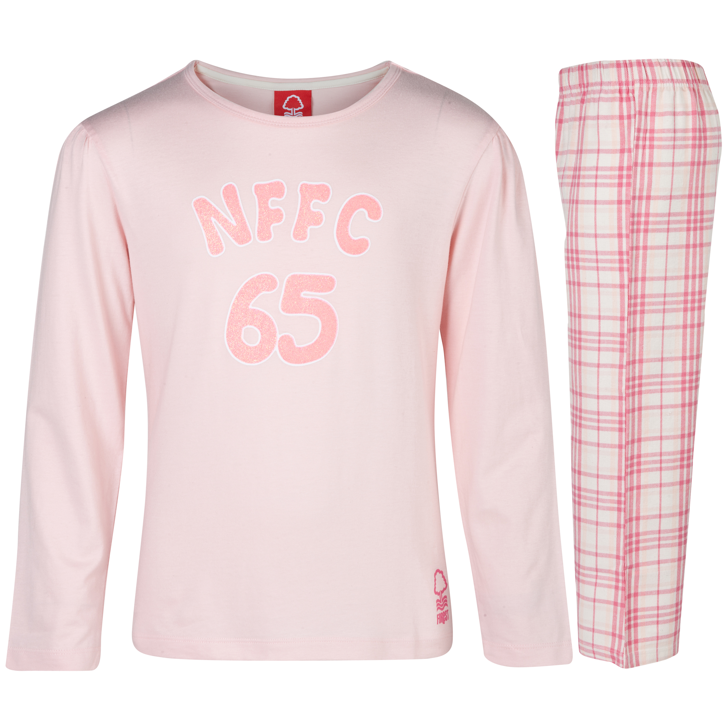 Nottingham Forest 65 Pyjamas Girls Pink