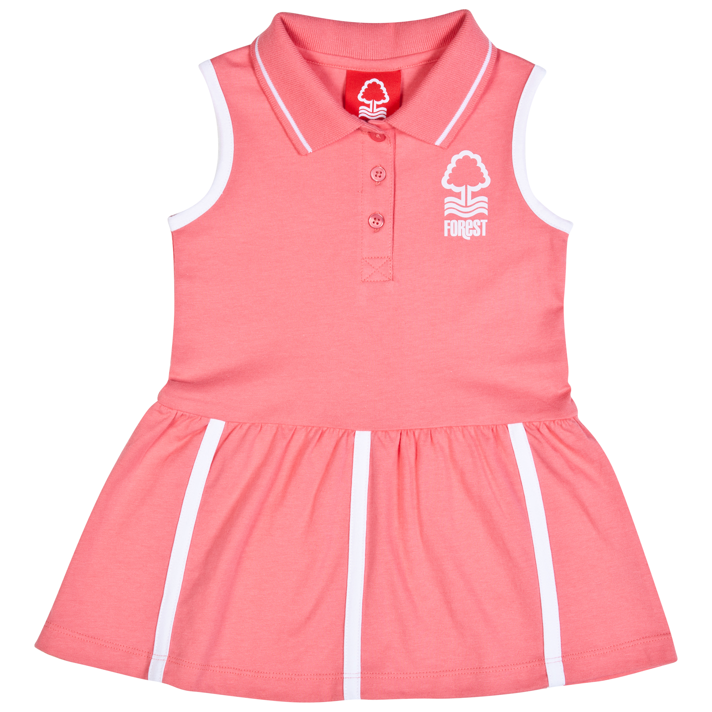 Nottingham Forest Coral Tennis Dress-Baby Pink