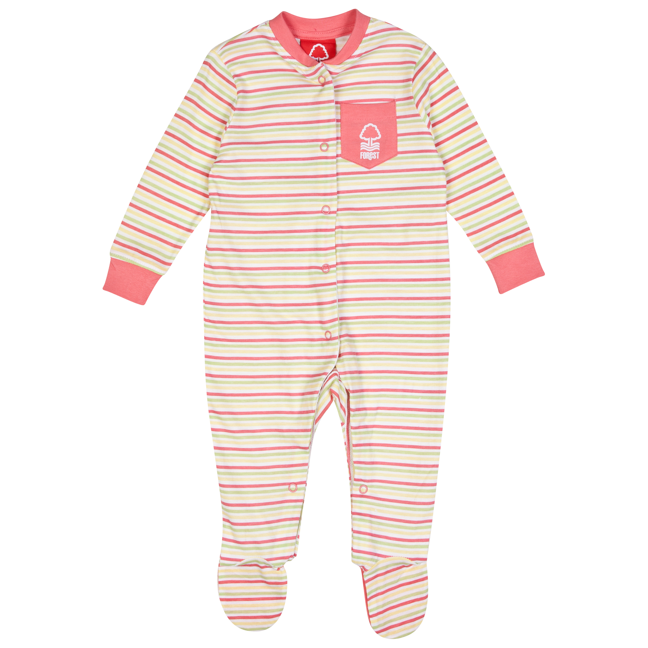 Nottingham Forest Rose Sleepsuit-Baby Pink