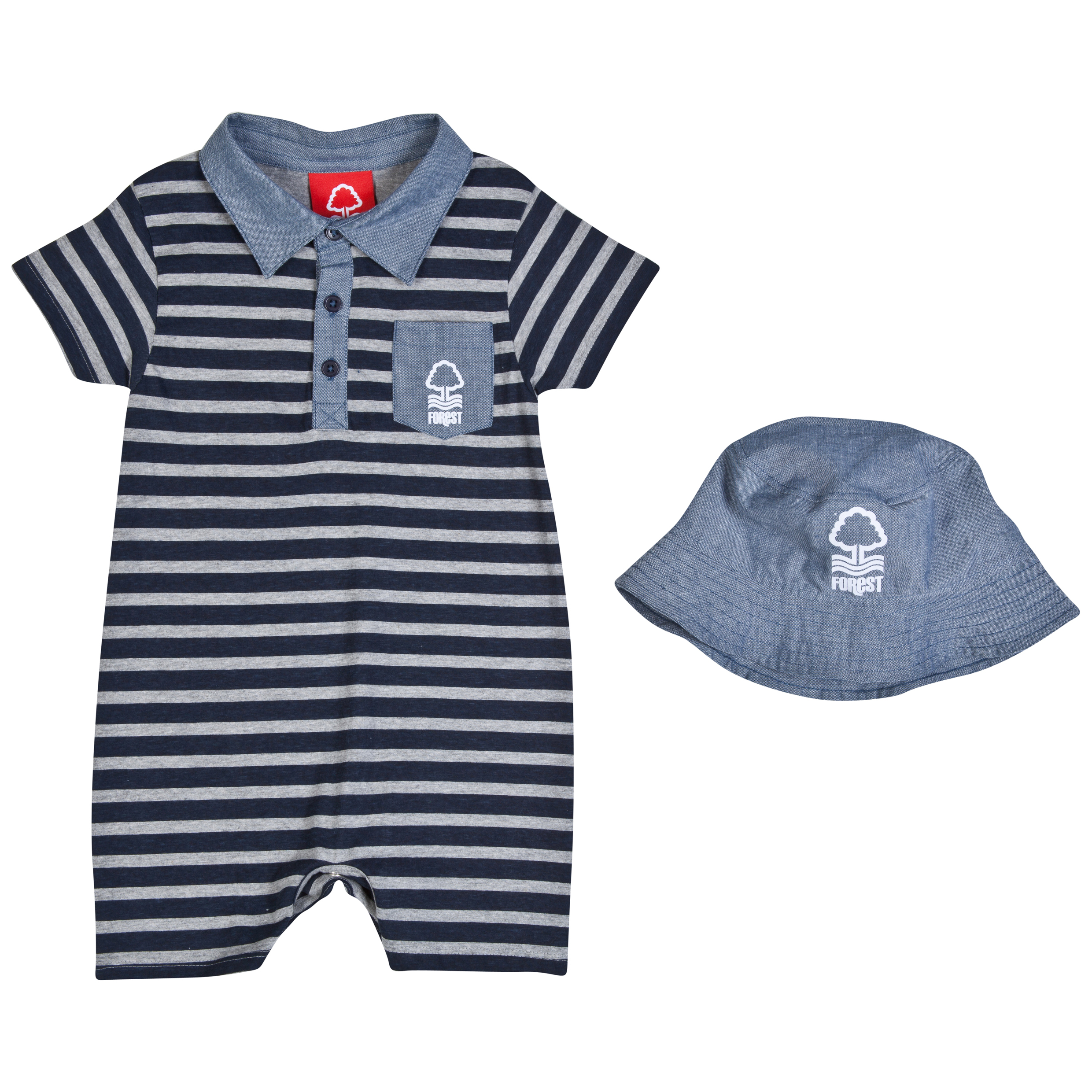 Nottingham Forest Leo Romper and Hat-Baby Navy