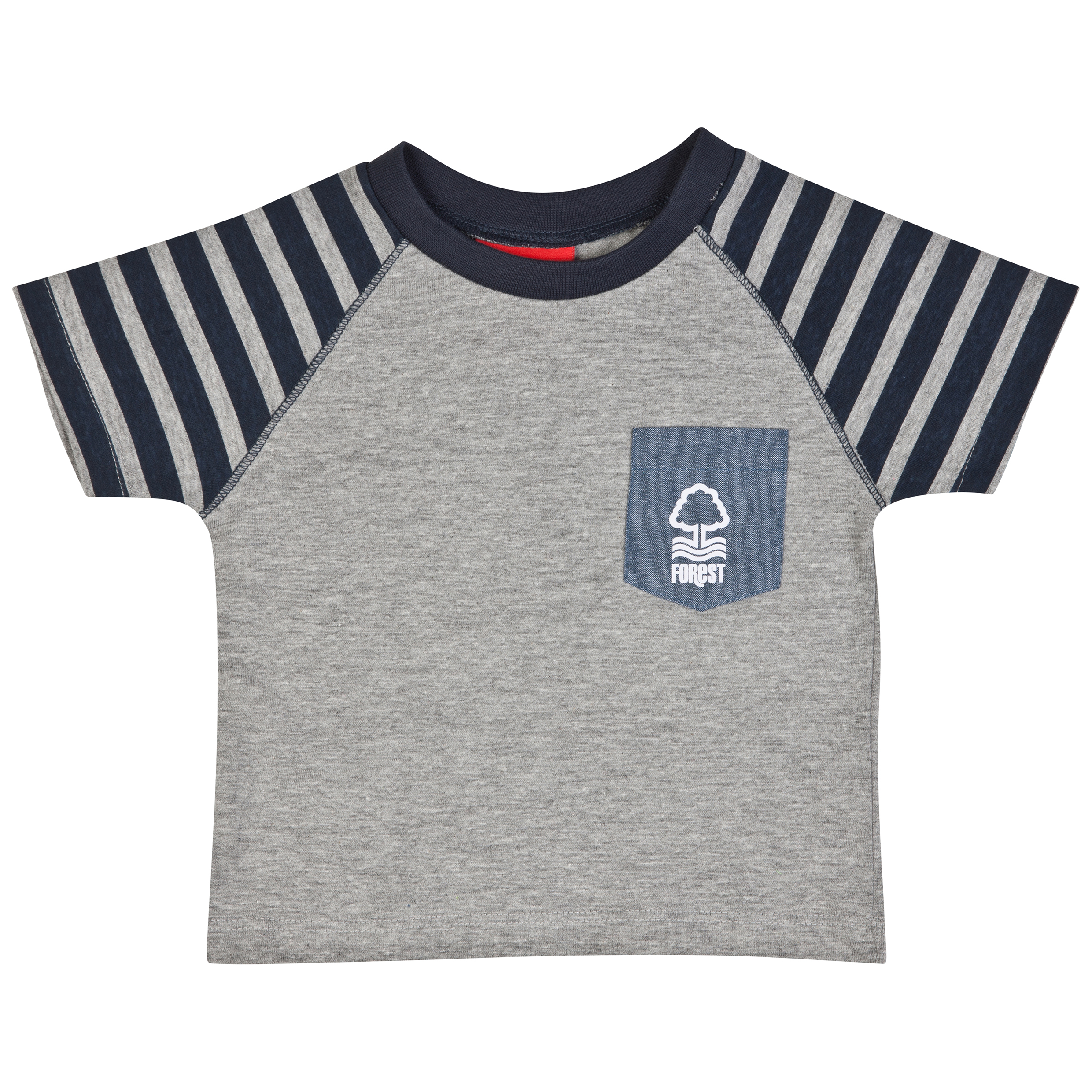 Nottingham Forest Mighty T-Shirt-Baby Lt Grey