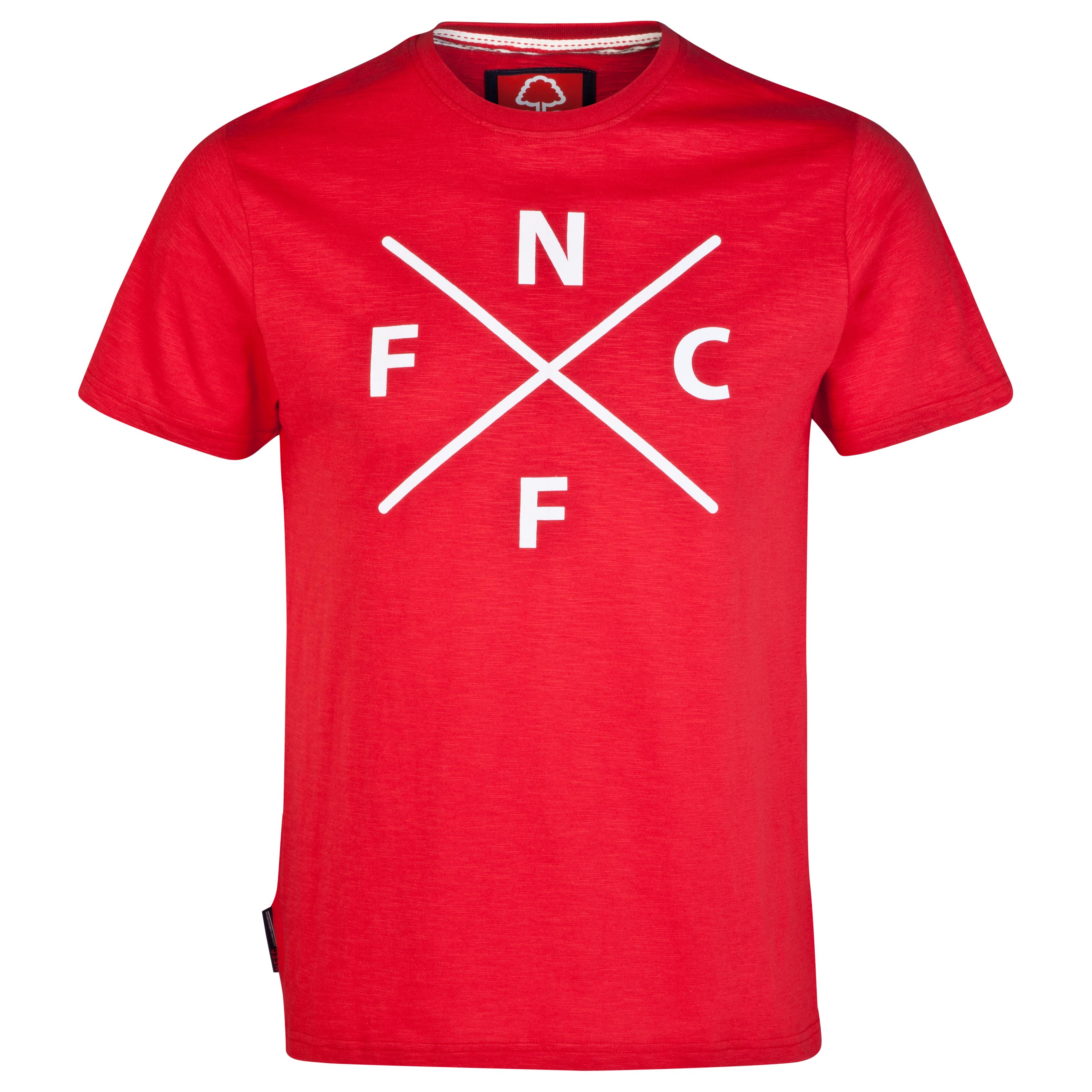 Nottingham Forest Code T-Shirt-Mens Red