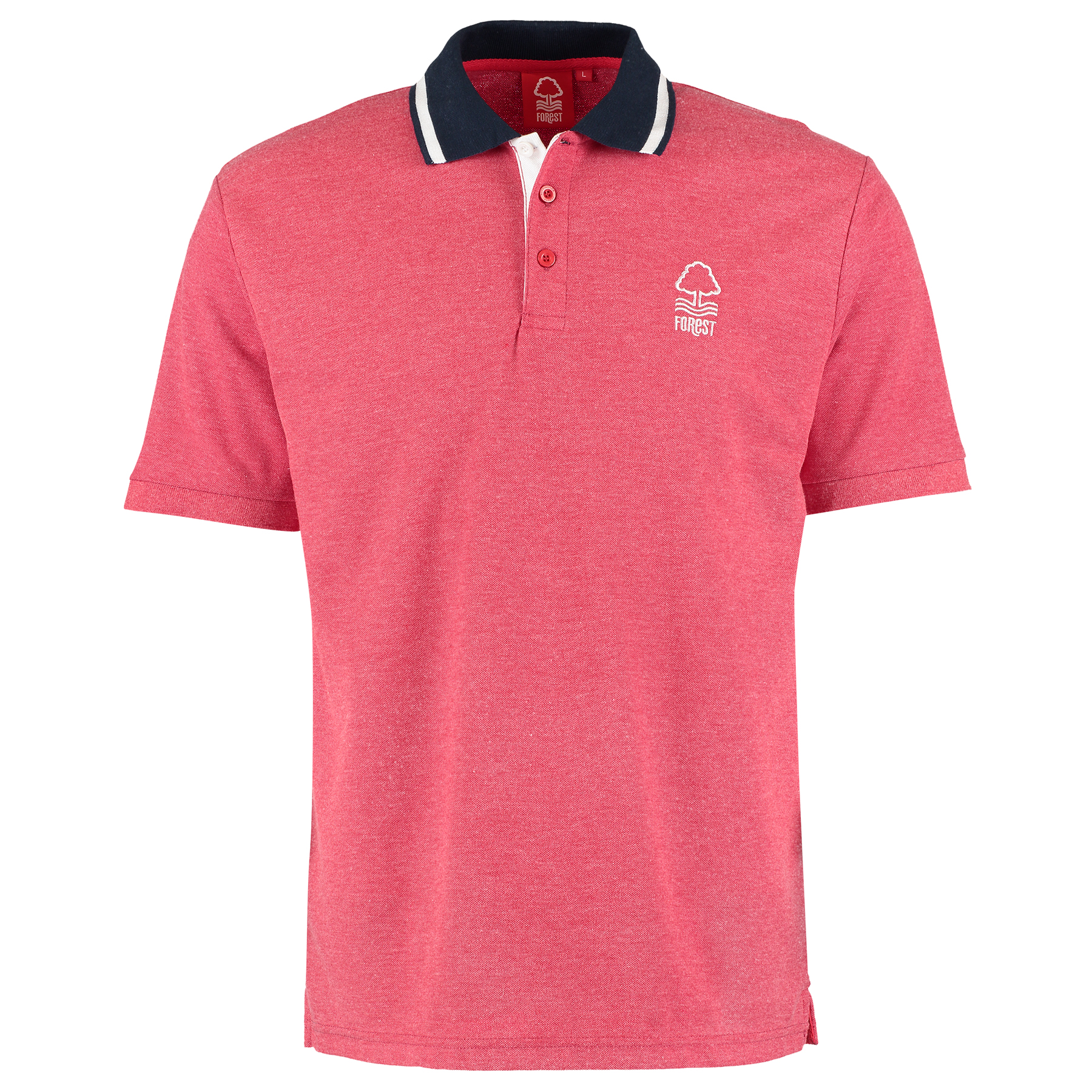Nottingham Forest Essential Polo Shirt - Red Marl - Mens