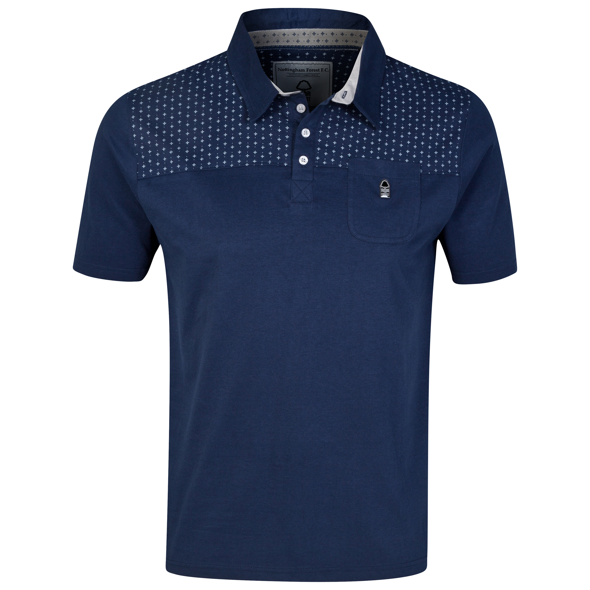 Nottingham Forest Polo Shirt - Navy - Mens