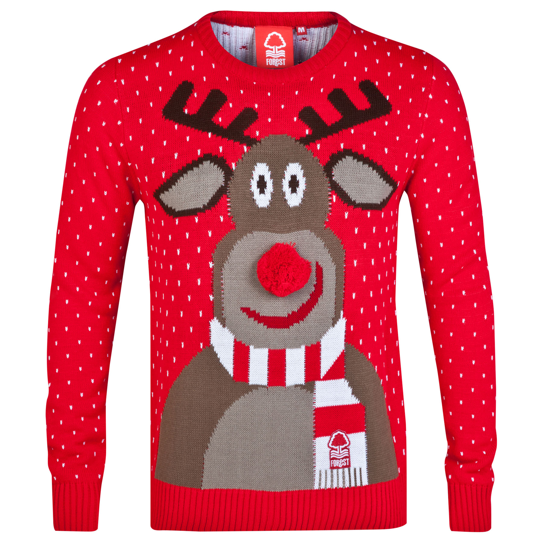 Nottingham Forest Christmas Jumper - Red - Adult