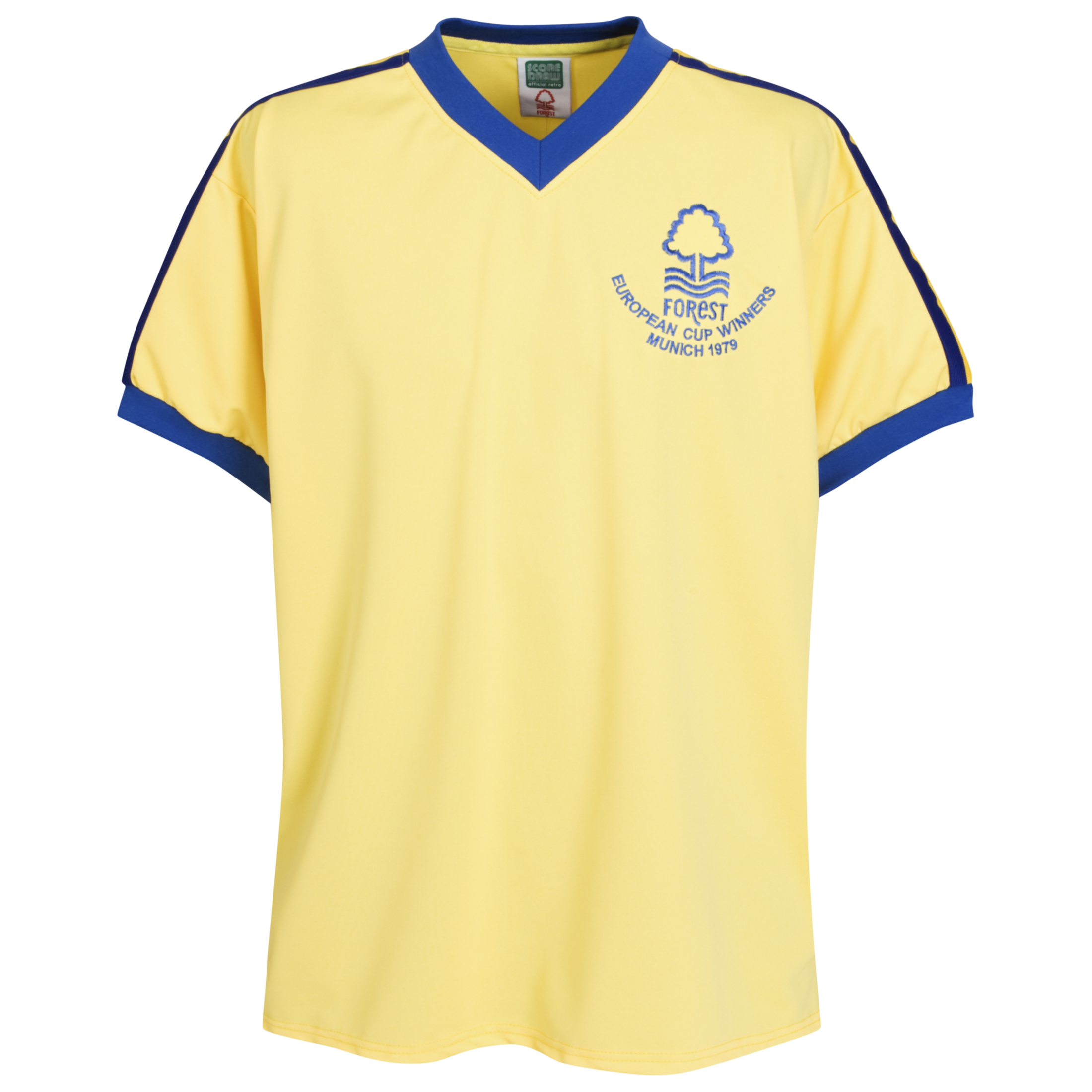 Nottingham Forest 1979 European Cup Winners Away Shirt Yellow