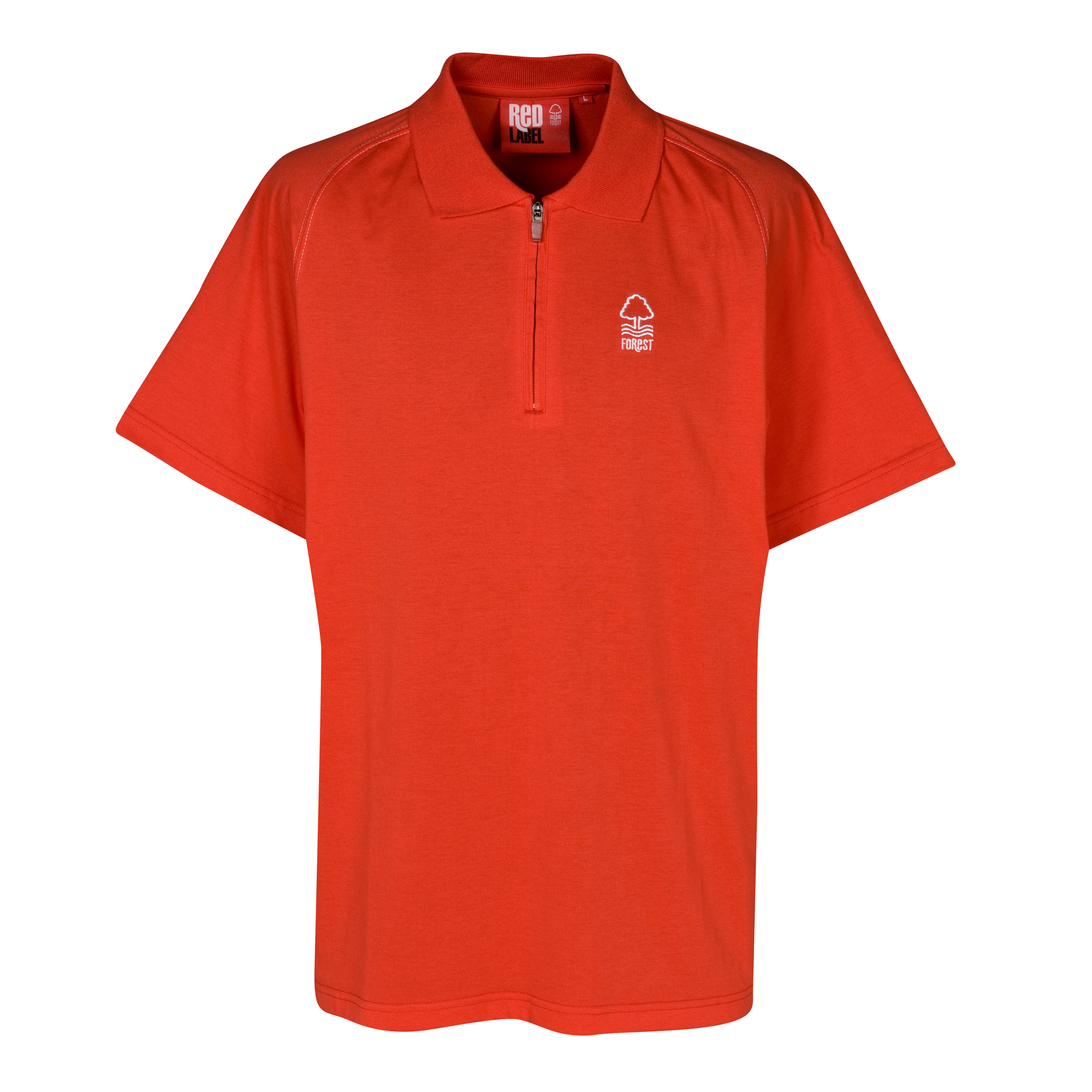 Nottingham Forest Essential Stones Zip Polo Top - Red