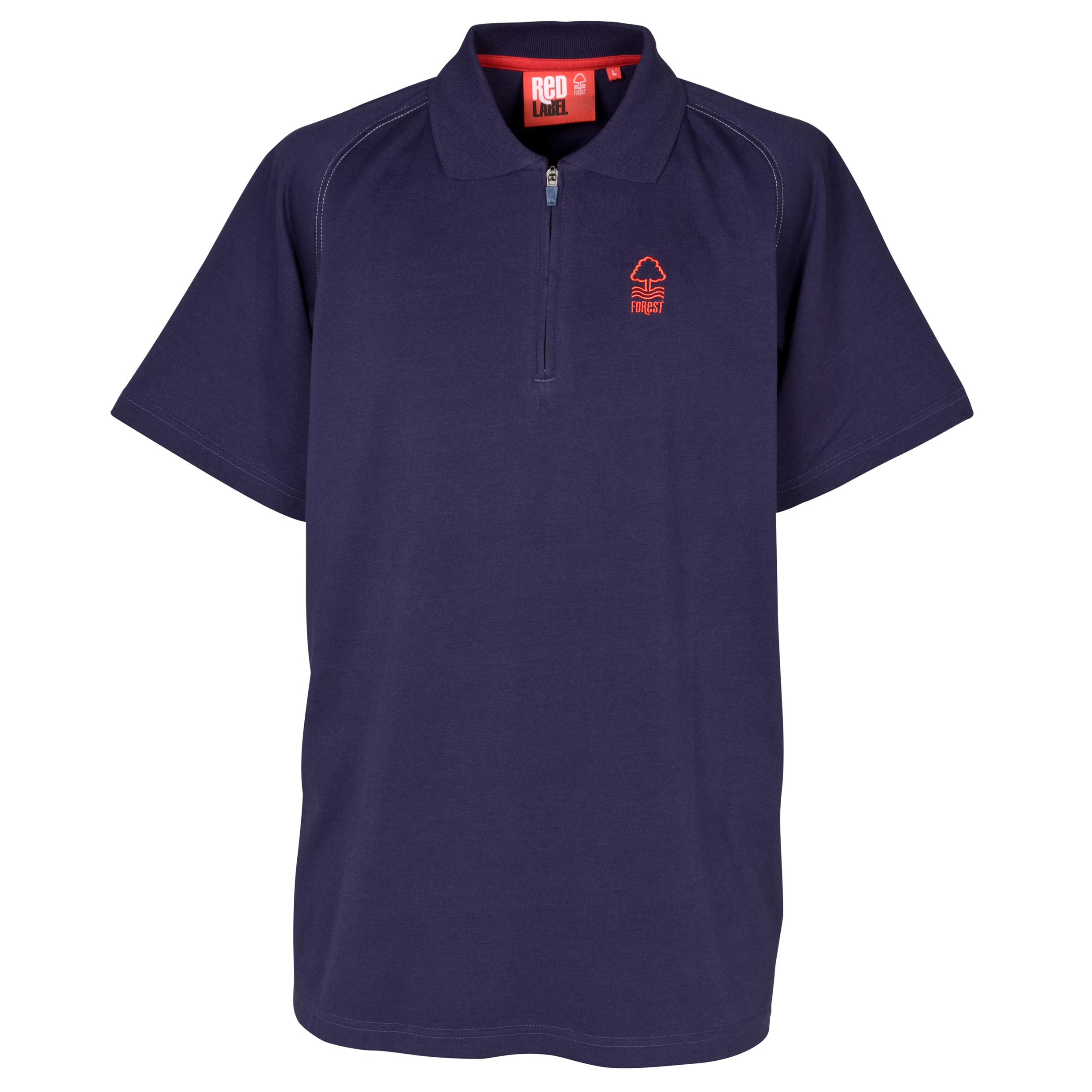 Nottingham Forest Essential Stones Zip Polo Top - Navy