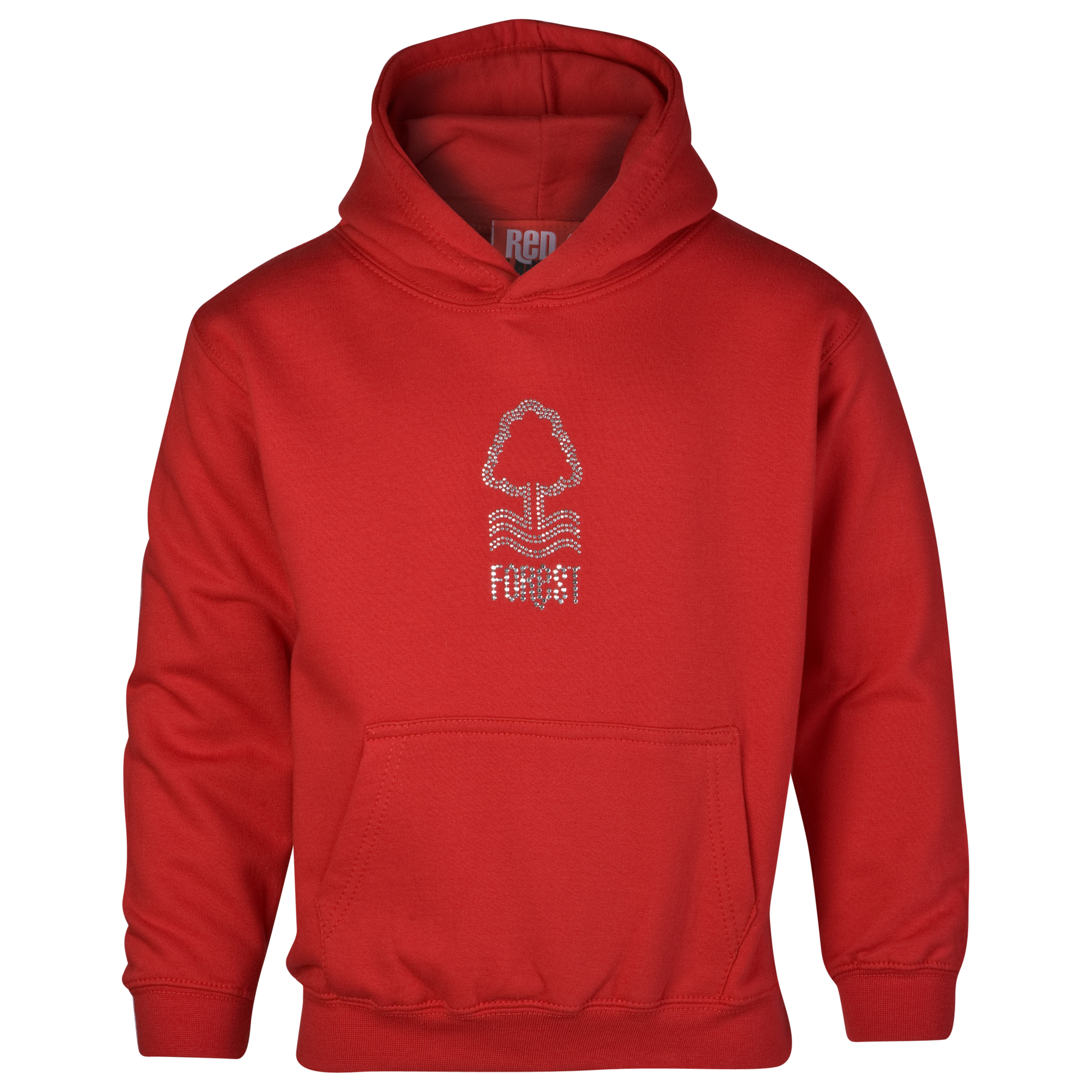 Nottingham Forest Essential Rhinestone Hoodie - Red - Older Girls