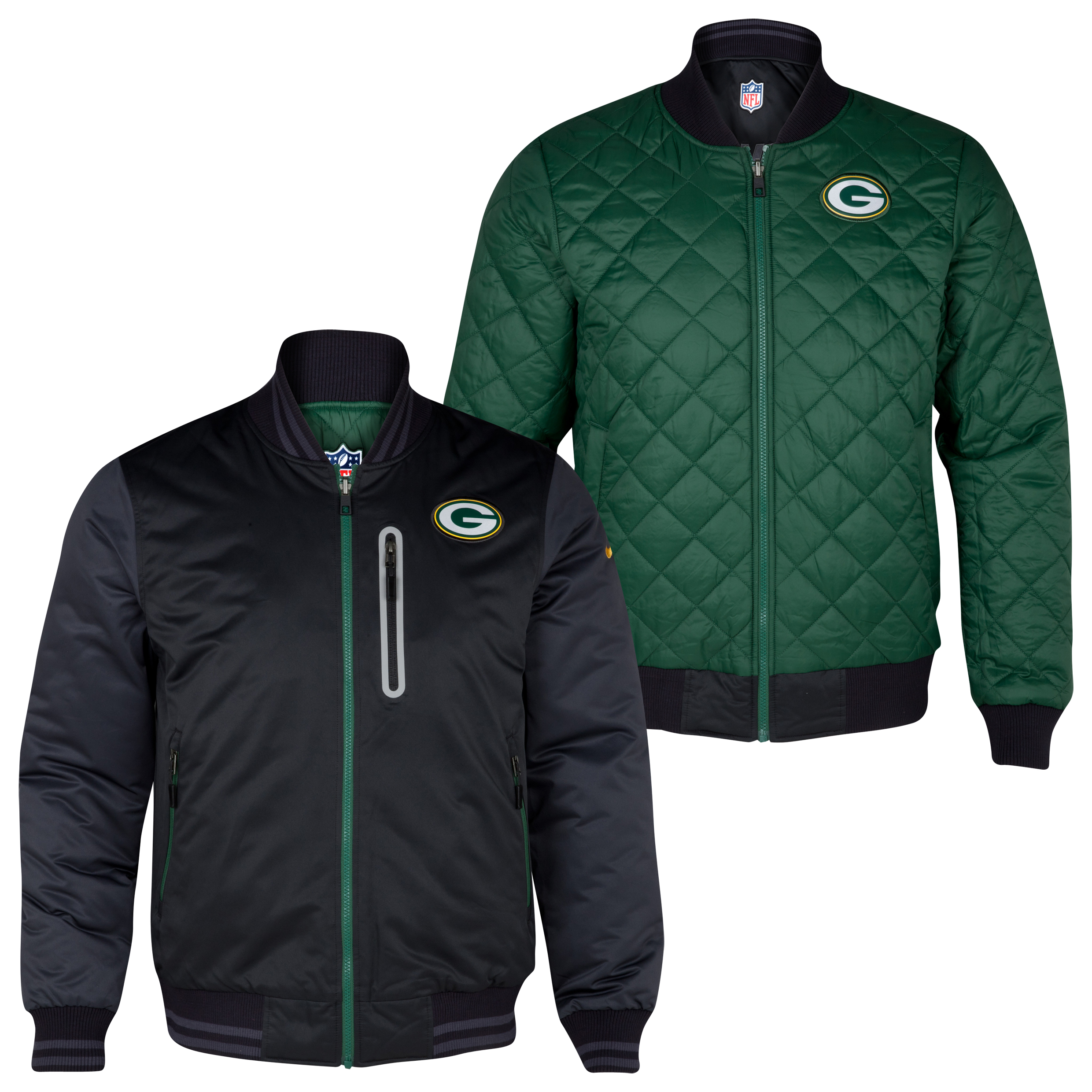 Green Bay Packers Destroyer Jacket - Black