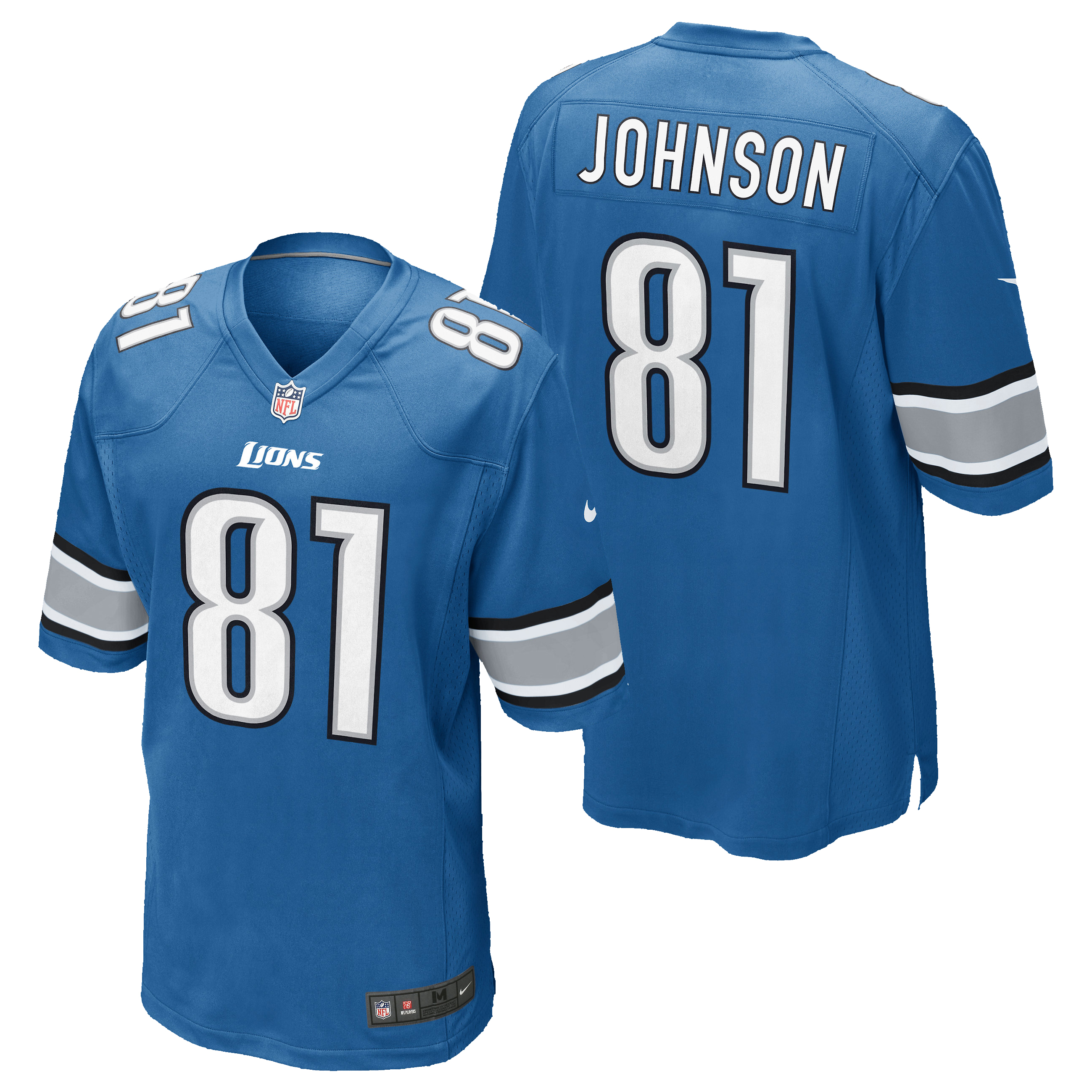 Detroit Lions Home Game Jersey - Calvin Johnson