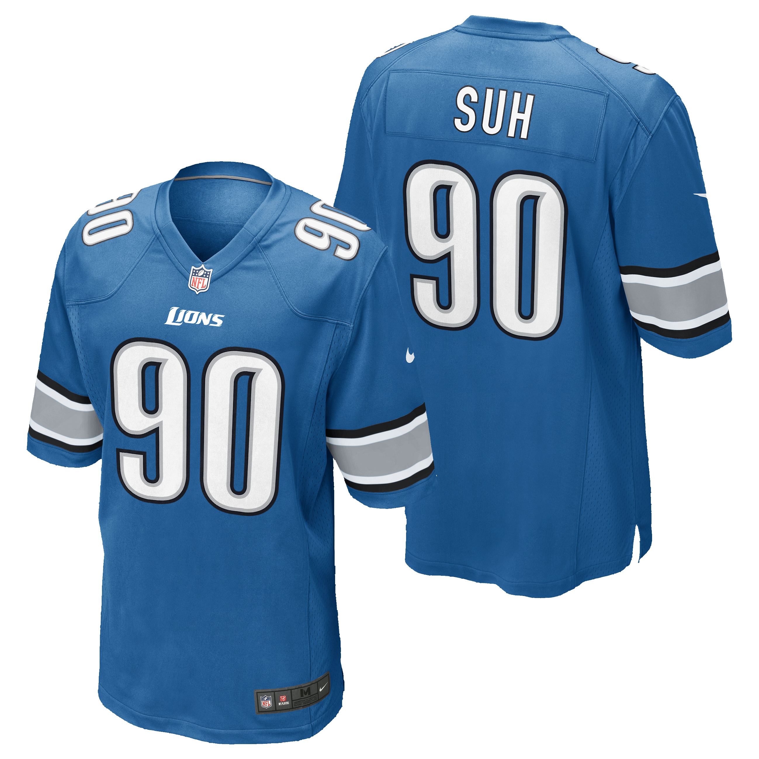 Detroit Lions Home Game Jersey - Ndamukong Suh
