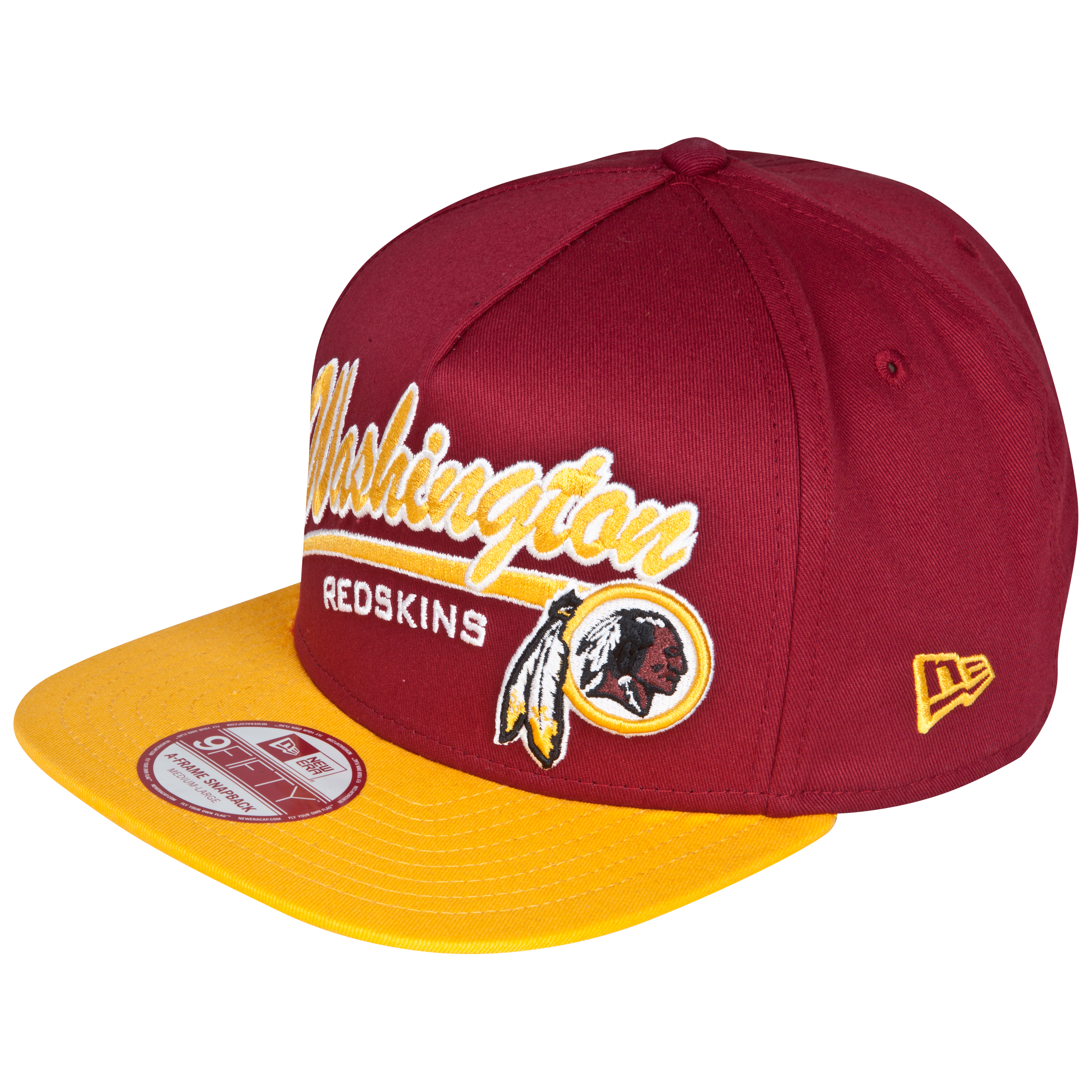 Washington Redskins 9Fifty Script Logo Snapback Cap
