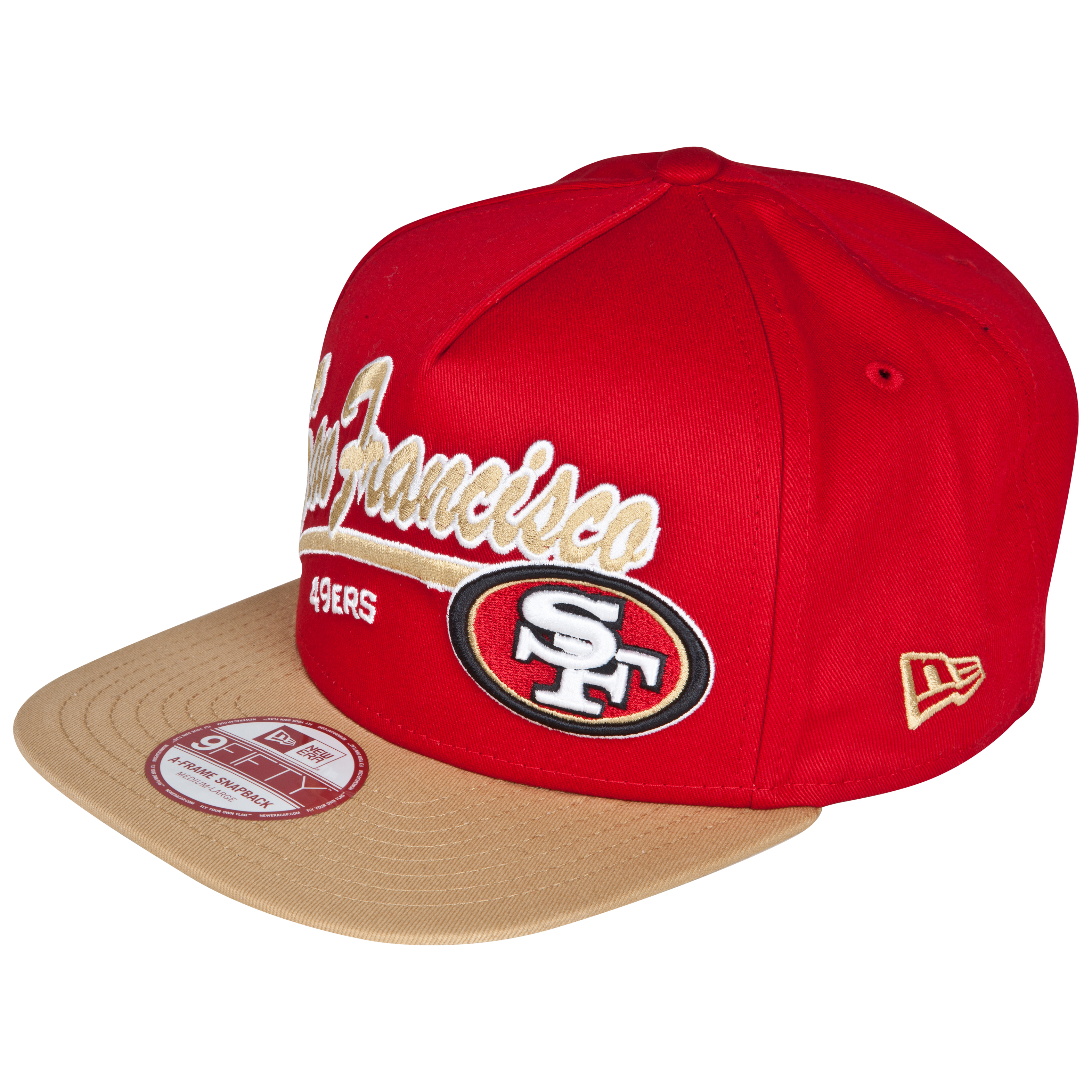 San Francisco 49ers 9Fifty Script Logo Snapback Cap
