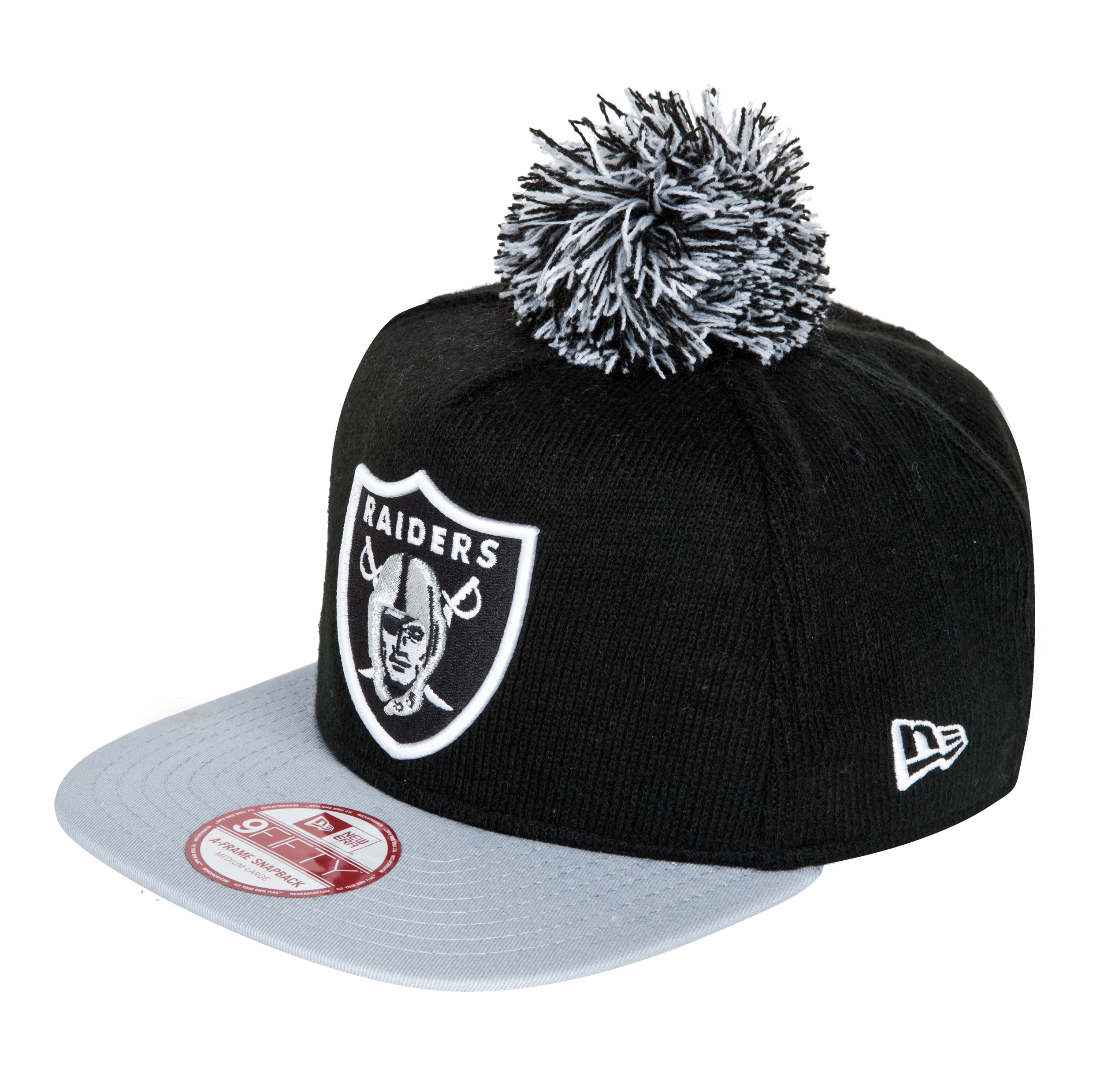 Oakland Raiders 9Fifty Bobble Game Snapback Cap