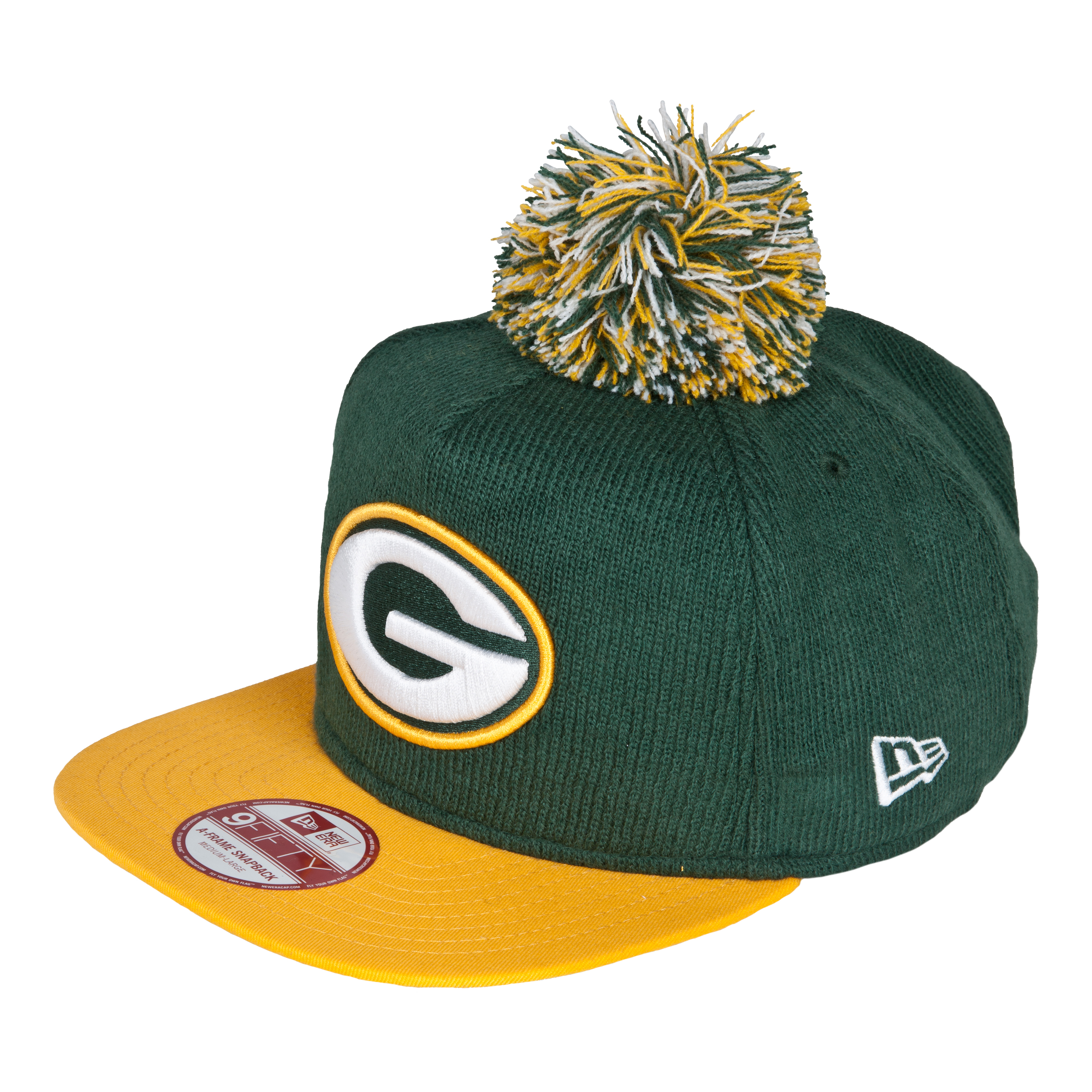 Green Bay Packers 9Fifty Bobble Game Snapback Cap