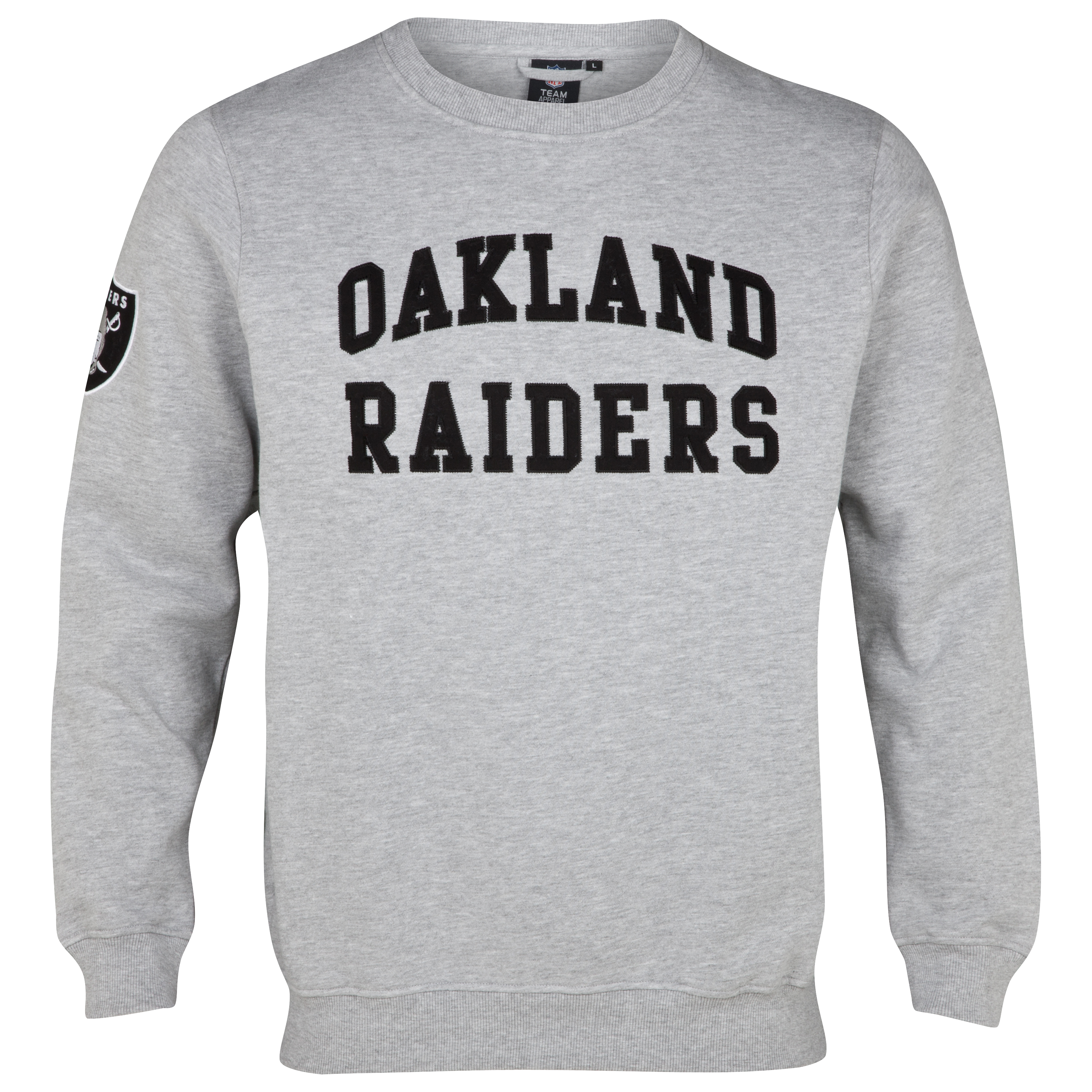 Oakland Raiders Collins Crew Neck Sweater - Silver Marl