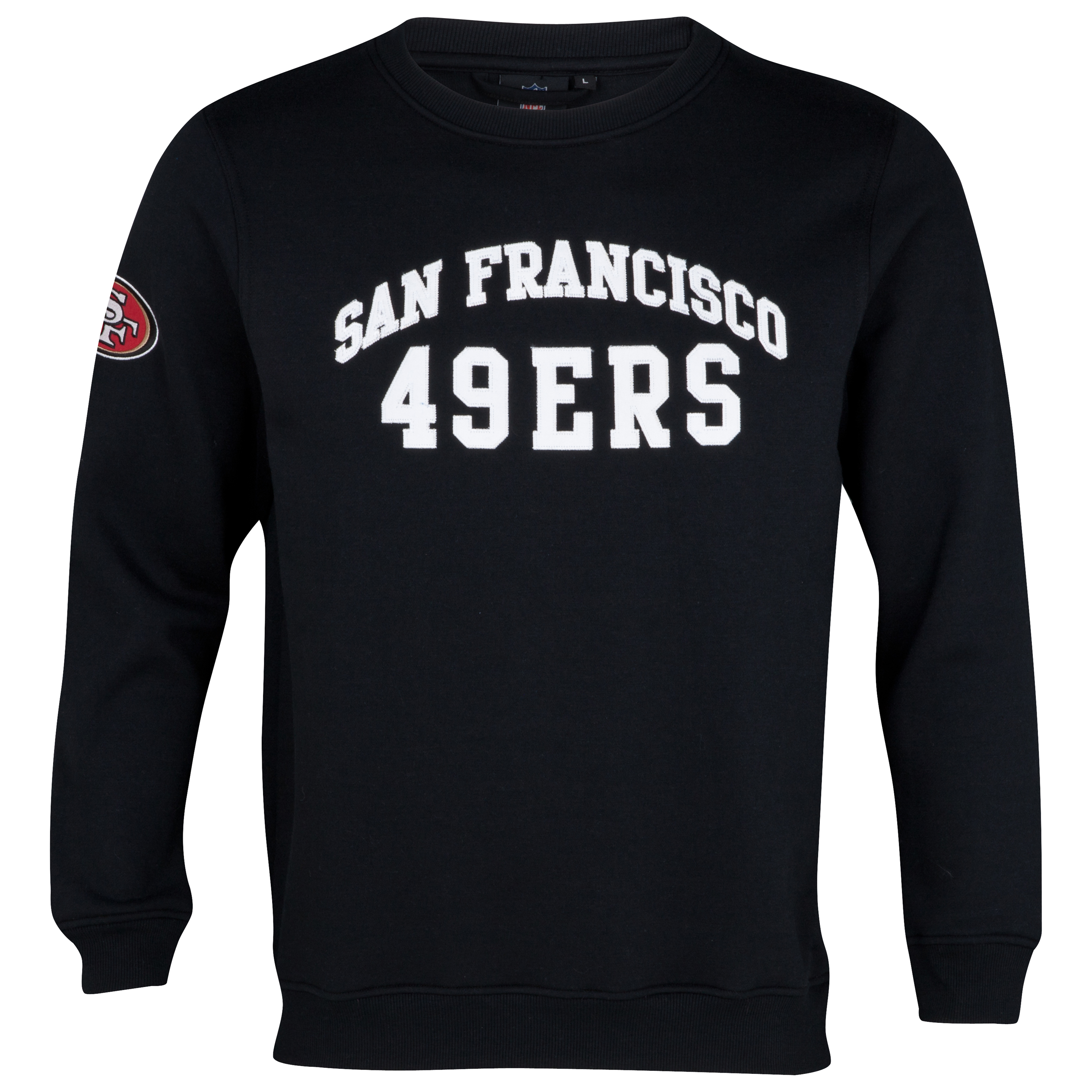 San Francisco 49ers Collins Crew Neck Sweater - Black