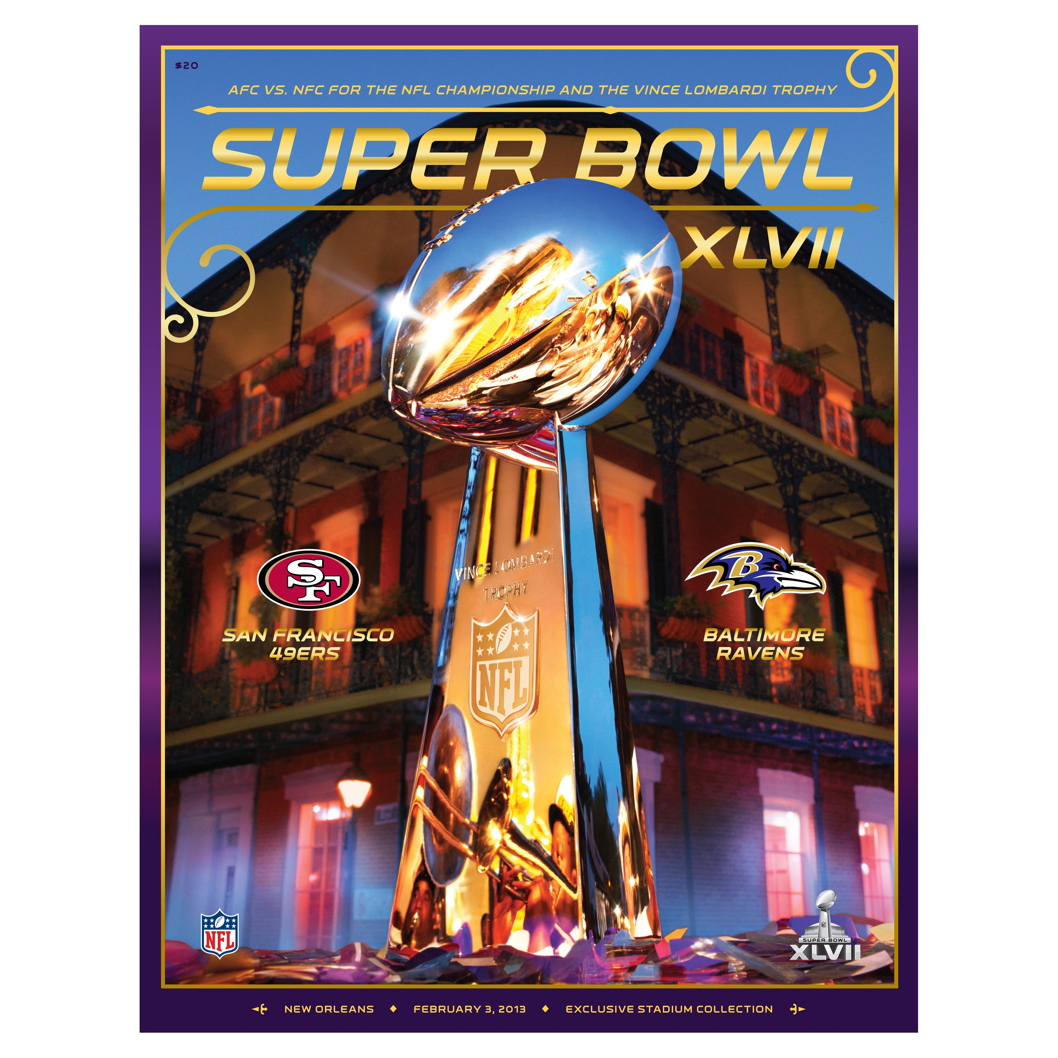 The Official Super Bowl XLVII Game Programme