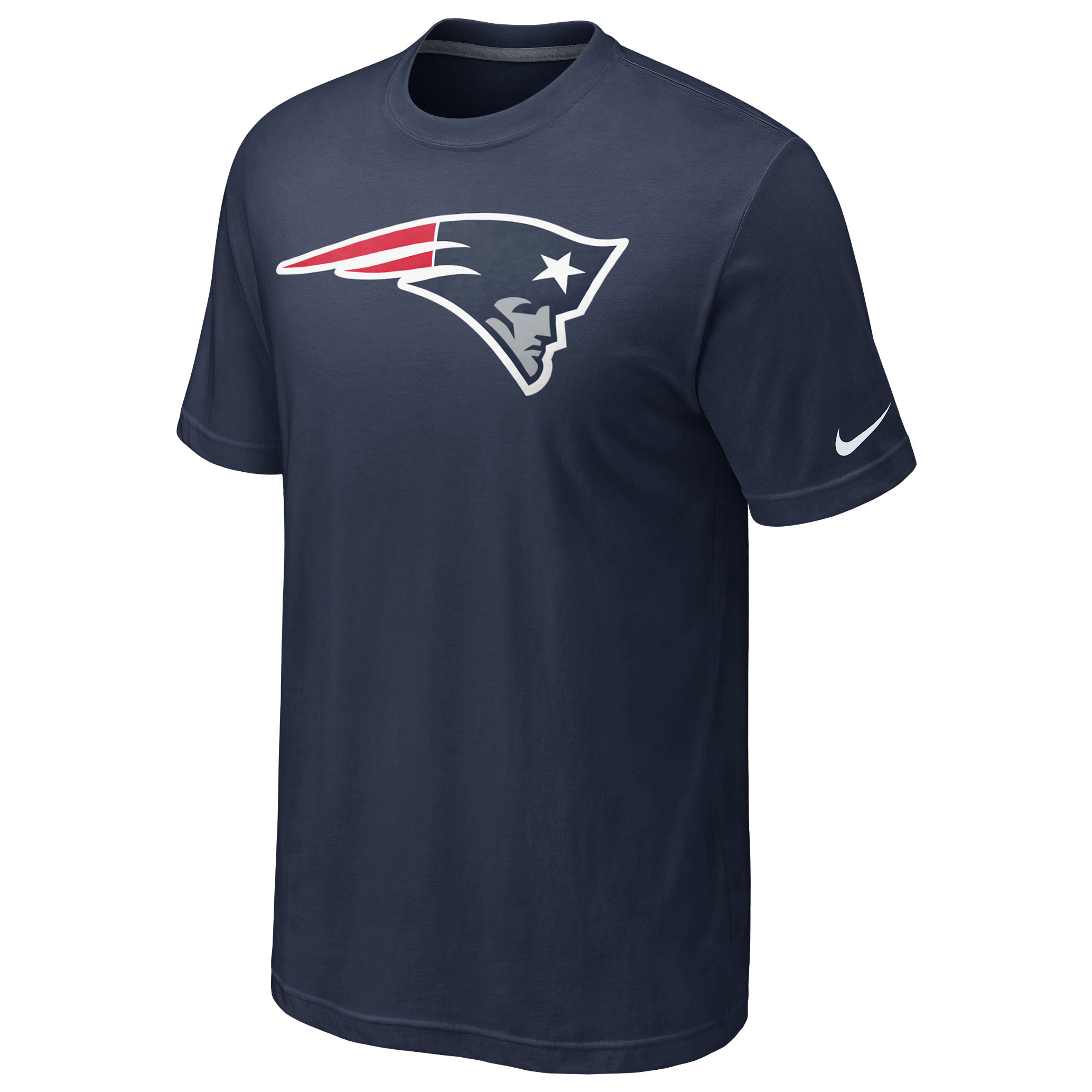 New England Patriots Oversized Logo T-Shirt Navy