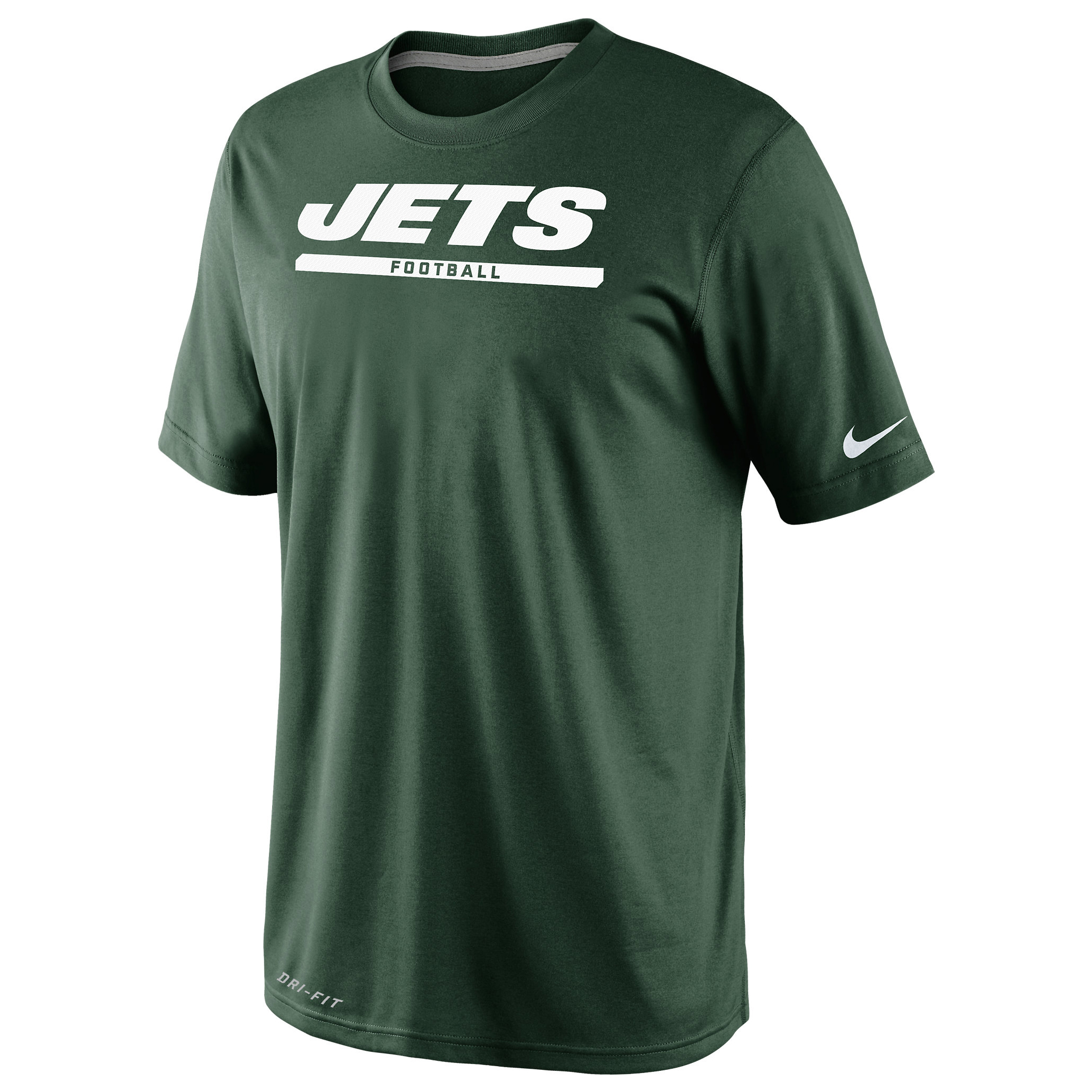 New York Jets Elite Font T-Shirt Dk Green