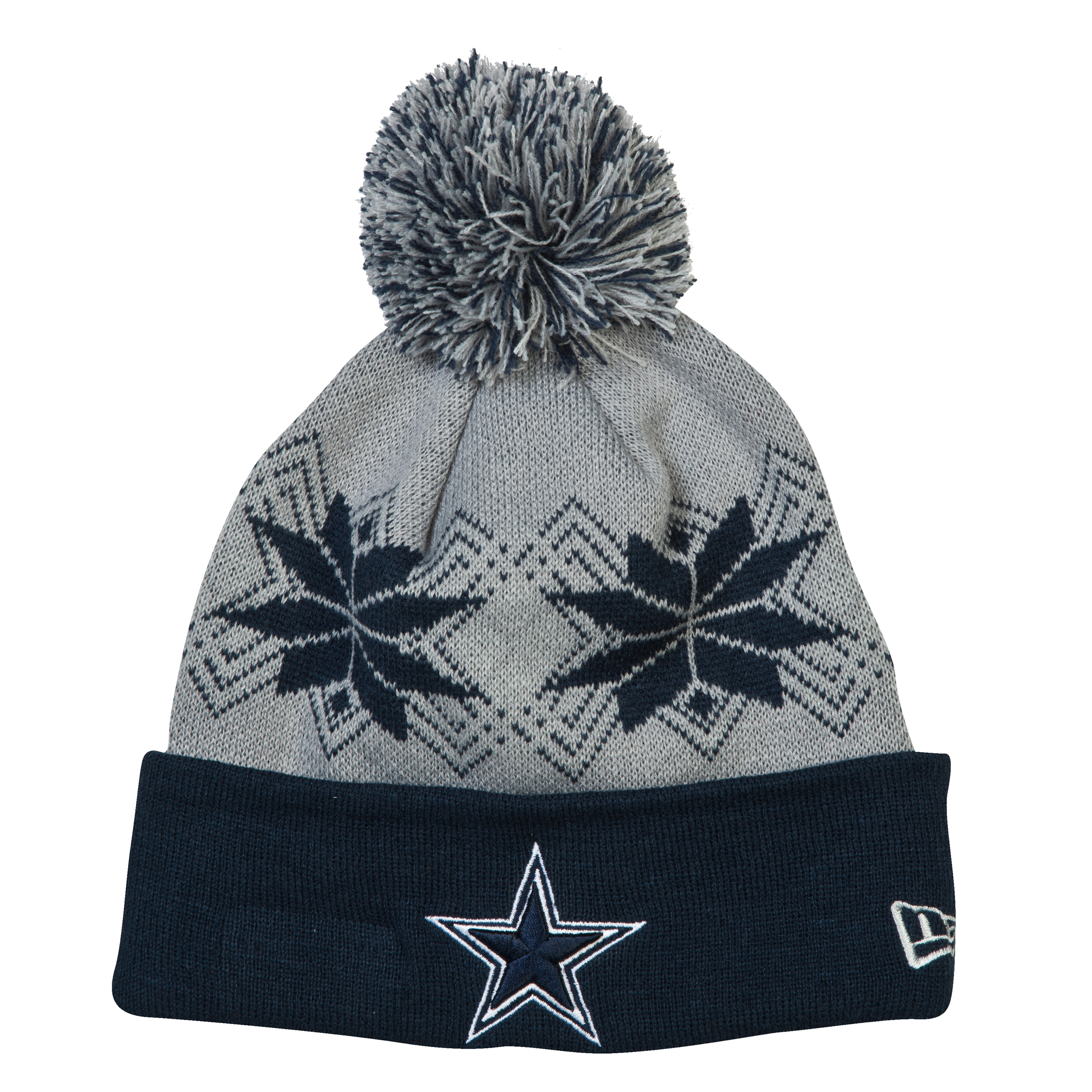 Dallas Cowboys New Era Intarsia Pom Knit