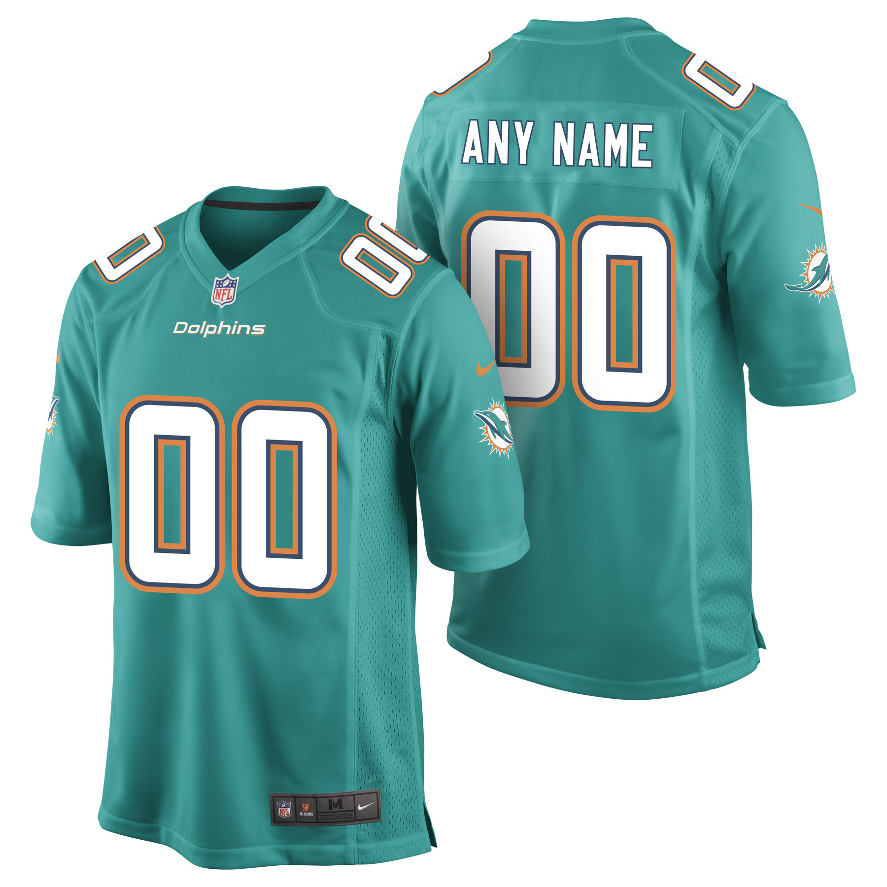 Miami Dolphins Home Game Jersey - Custom