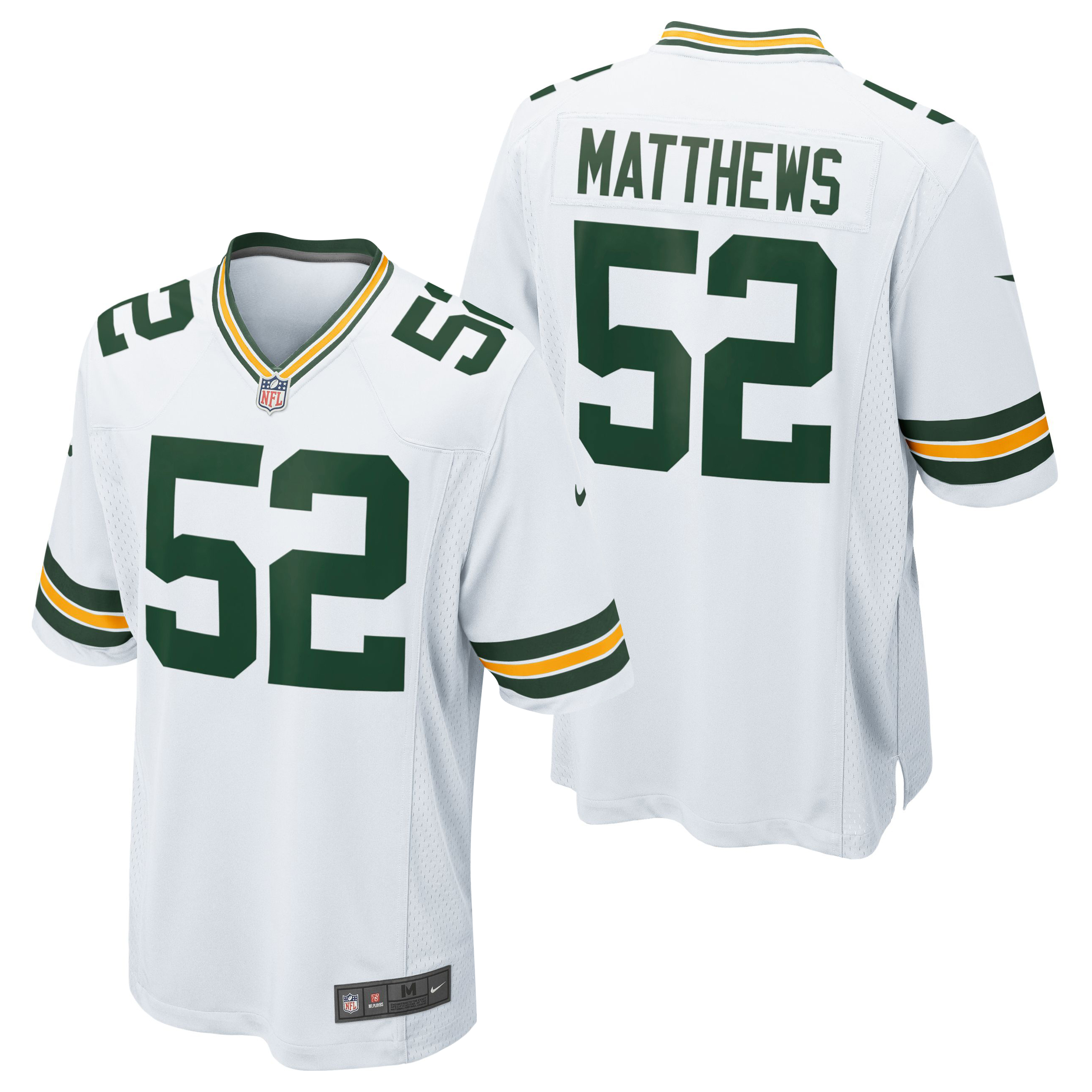 Green Bay Packers Road Game Jersey - Clay Matthews