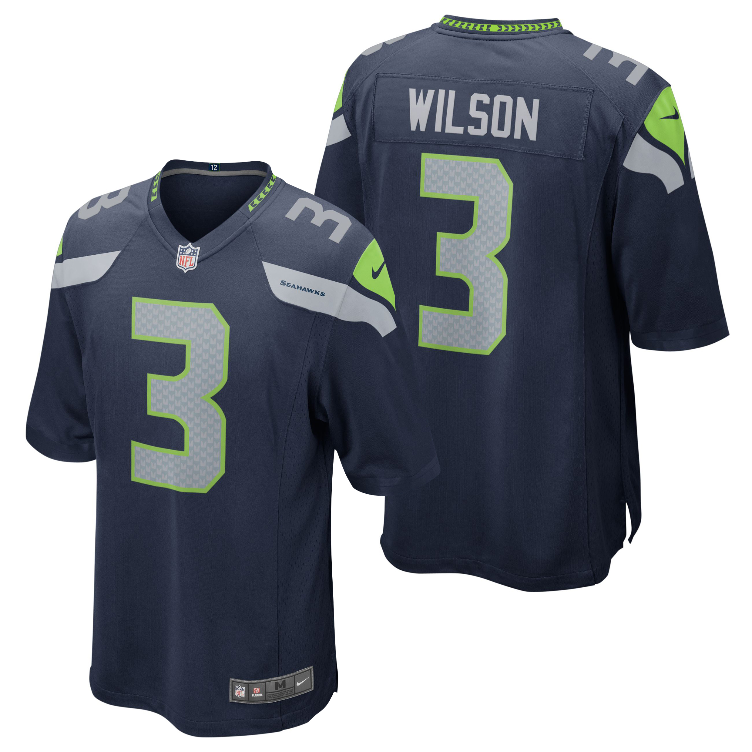 Seattle Seahawks Home Game Jersey - Russell Wilson