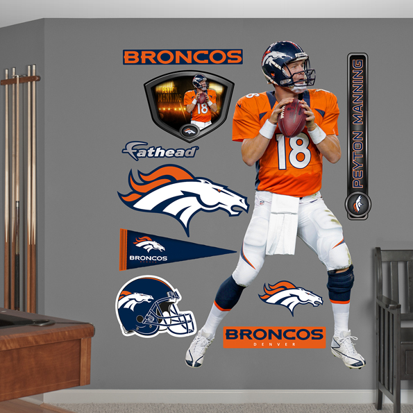 Denver Broncos Peyton Manning - Home Wall Graphic