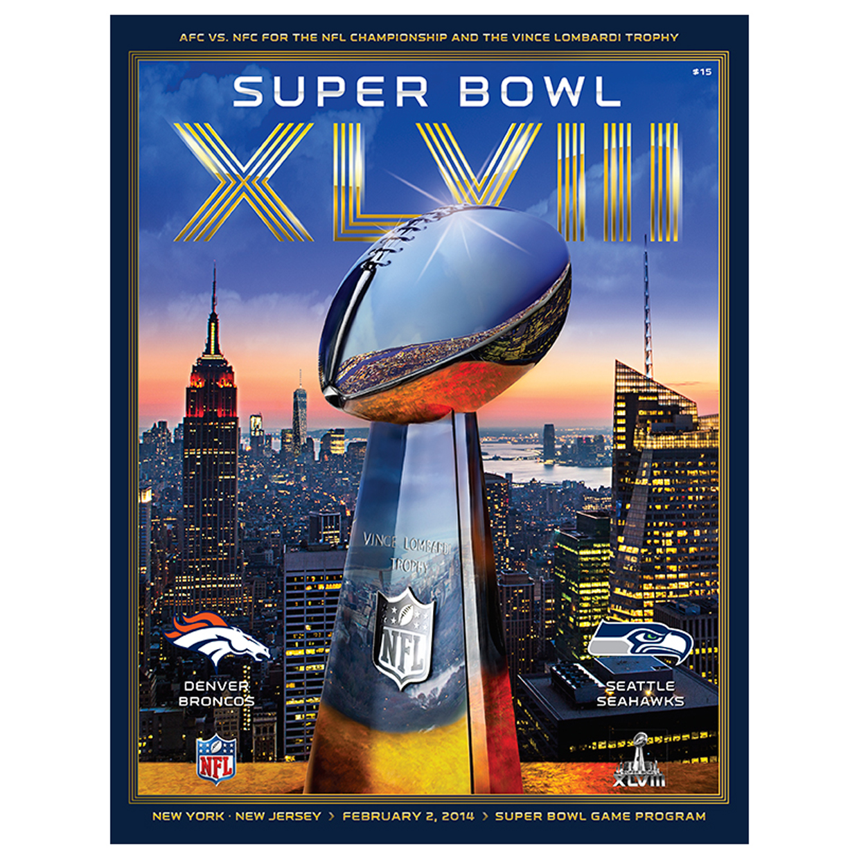 NFL Official Super Bowl XLVIII Game Programme