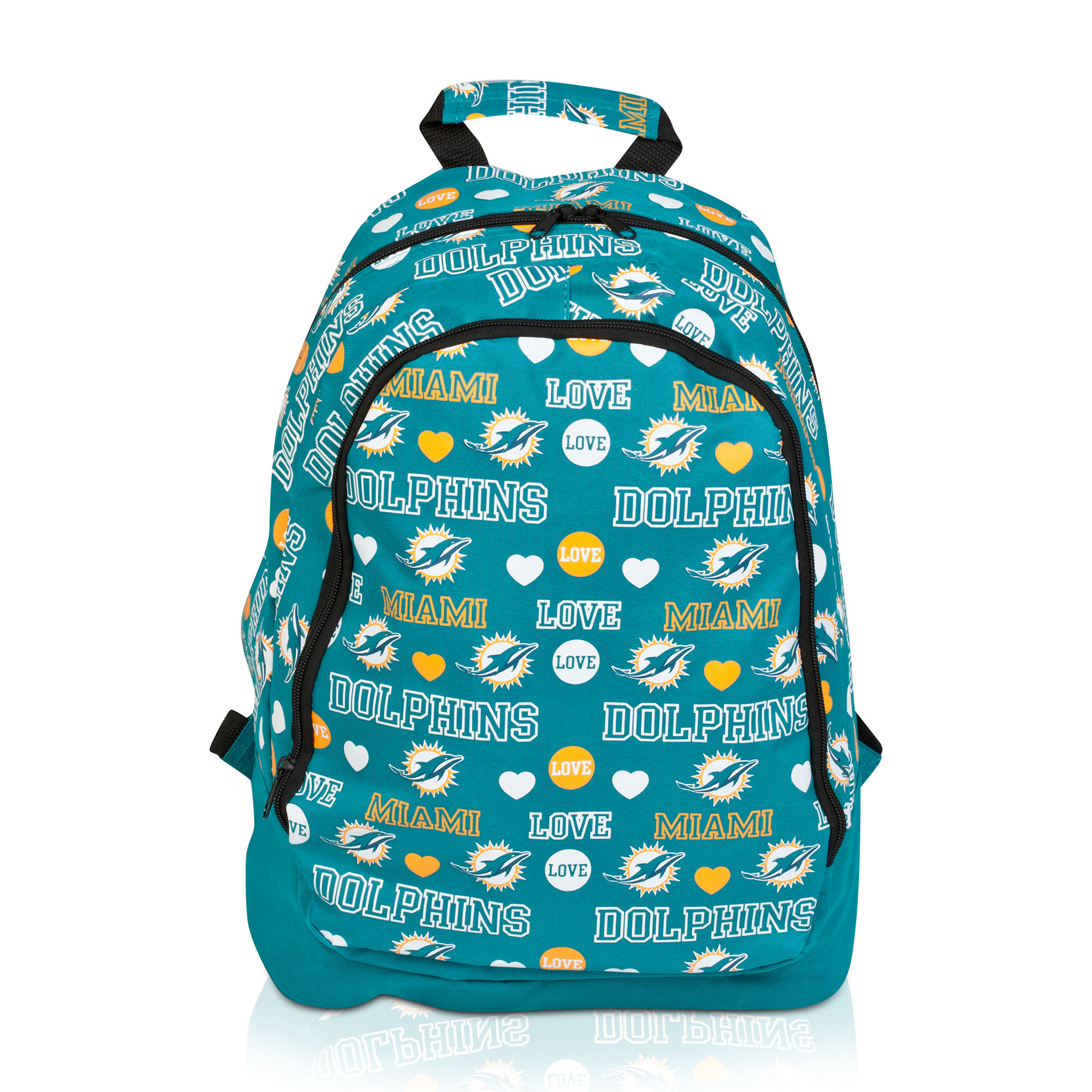 Miami Dolphins Mural Love Print Backpack - Womens