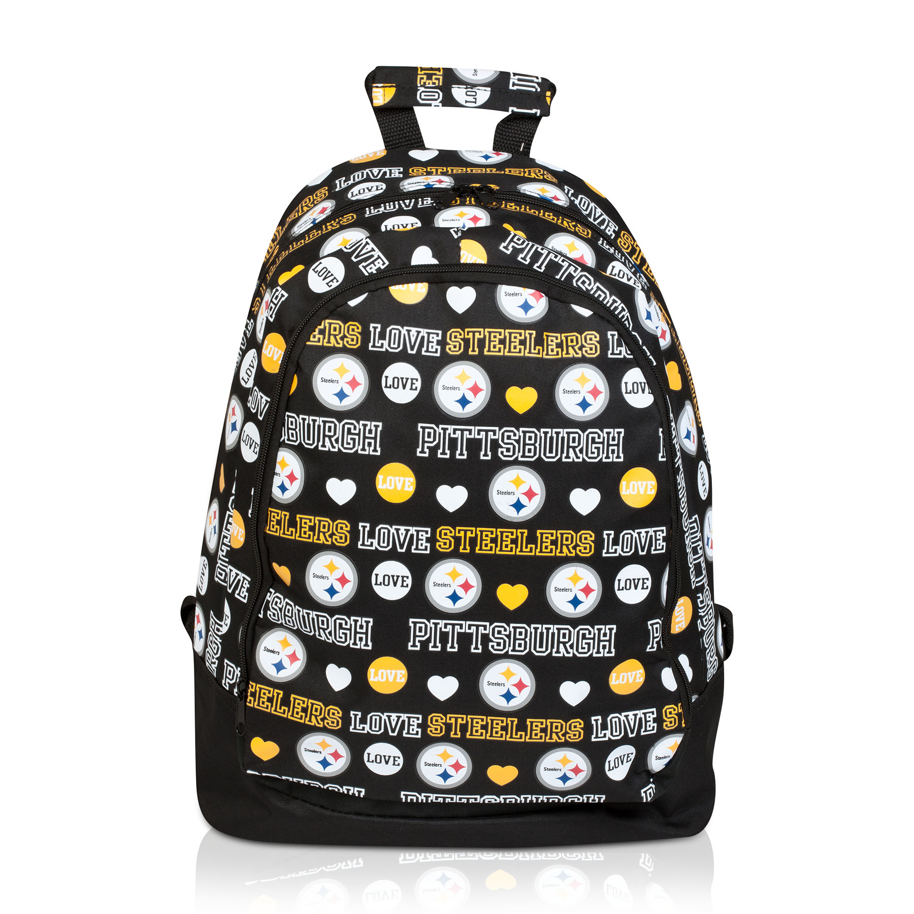 Pittsburgh Steelers Mural Love Print Backpack - Womens