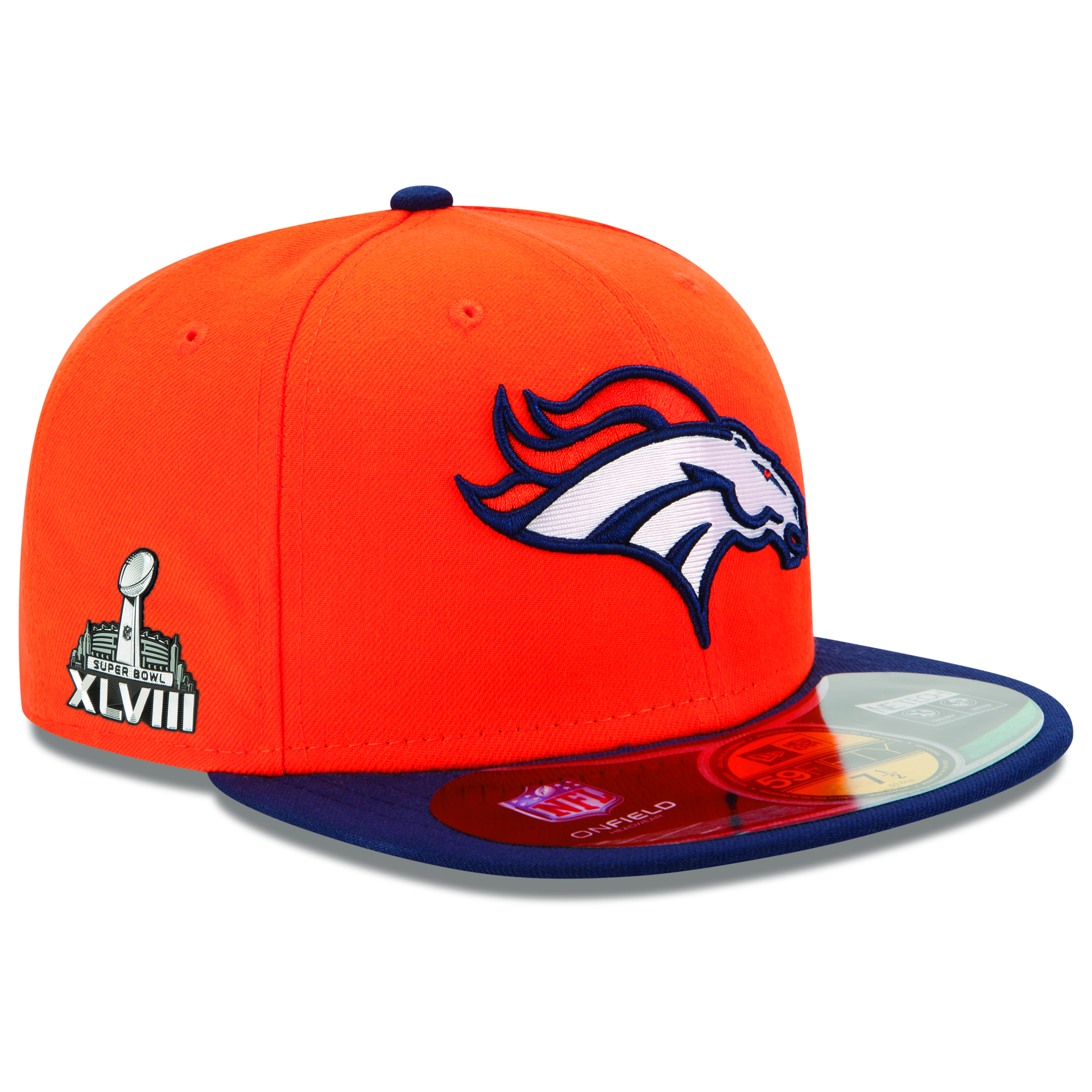 Denver Broncos New Era 59FIFTY Super Bowl XLVIII Fitted Cap