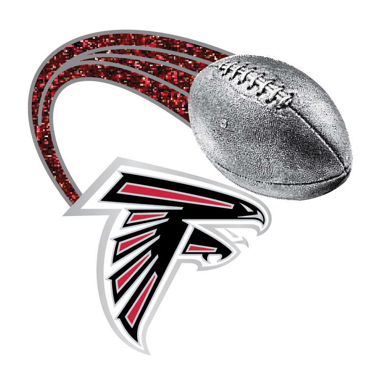 Atlanta Falcons Glitter Trail Pin Badge