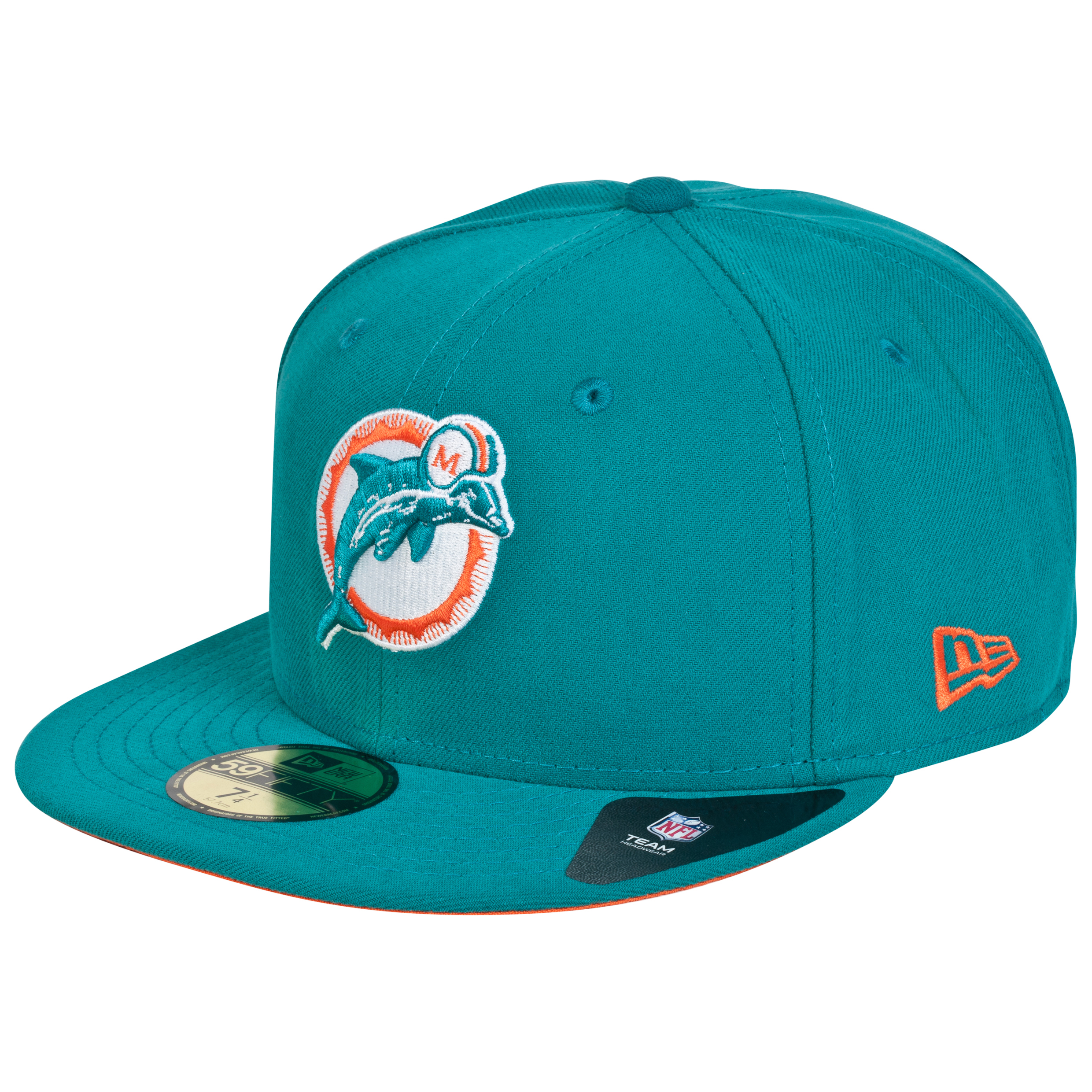 Miami Dolphins New Era 59FIFTY SB Side Patch Super Bowl VII Fitted Cap