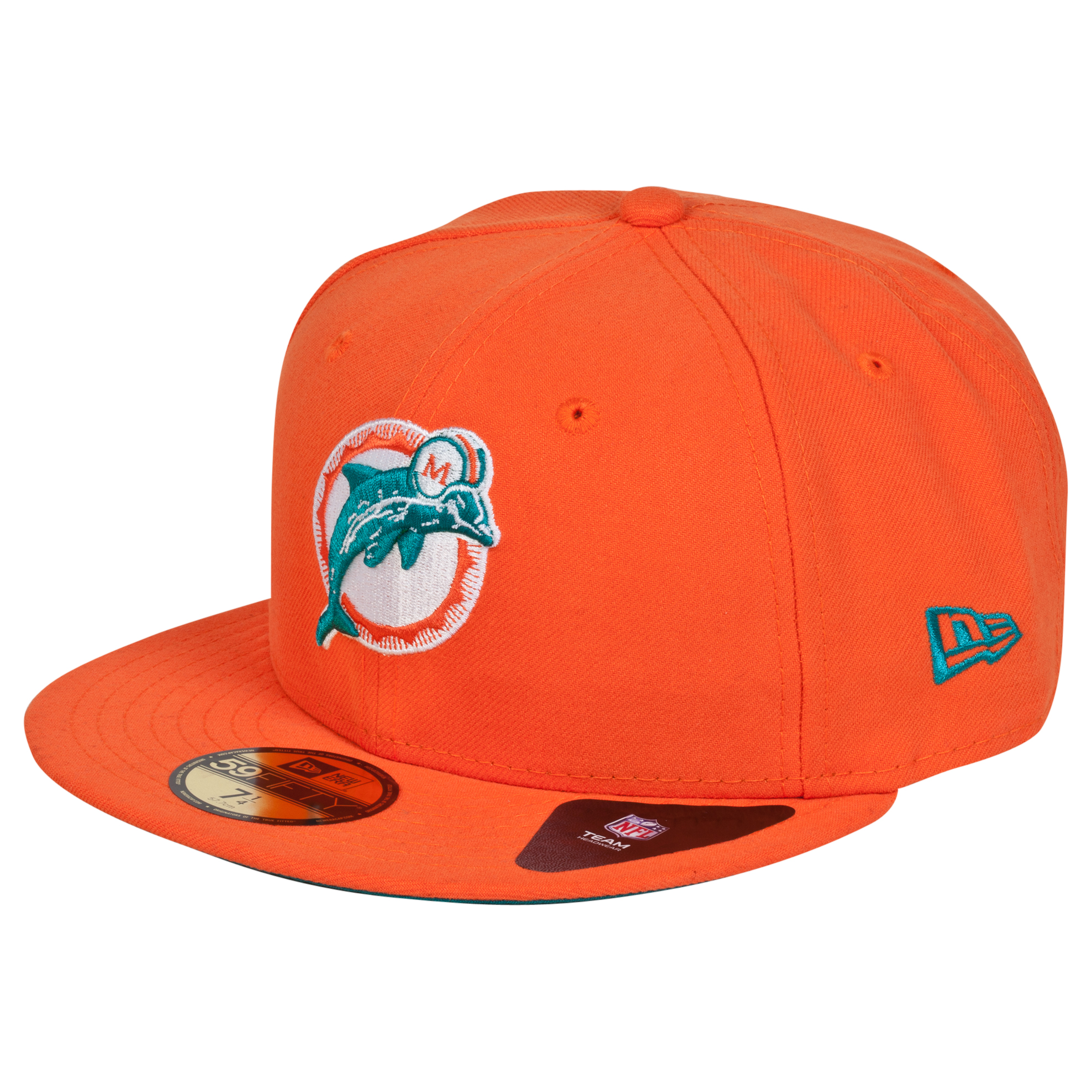Miami Dolphins New Era 59FIFTY SB Side Patch Super Bowl VIII Fitted Cap
