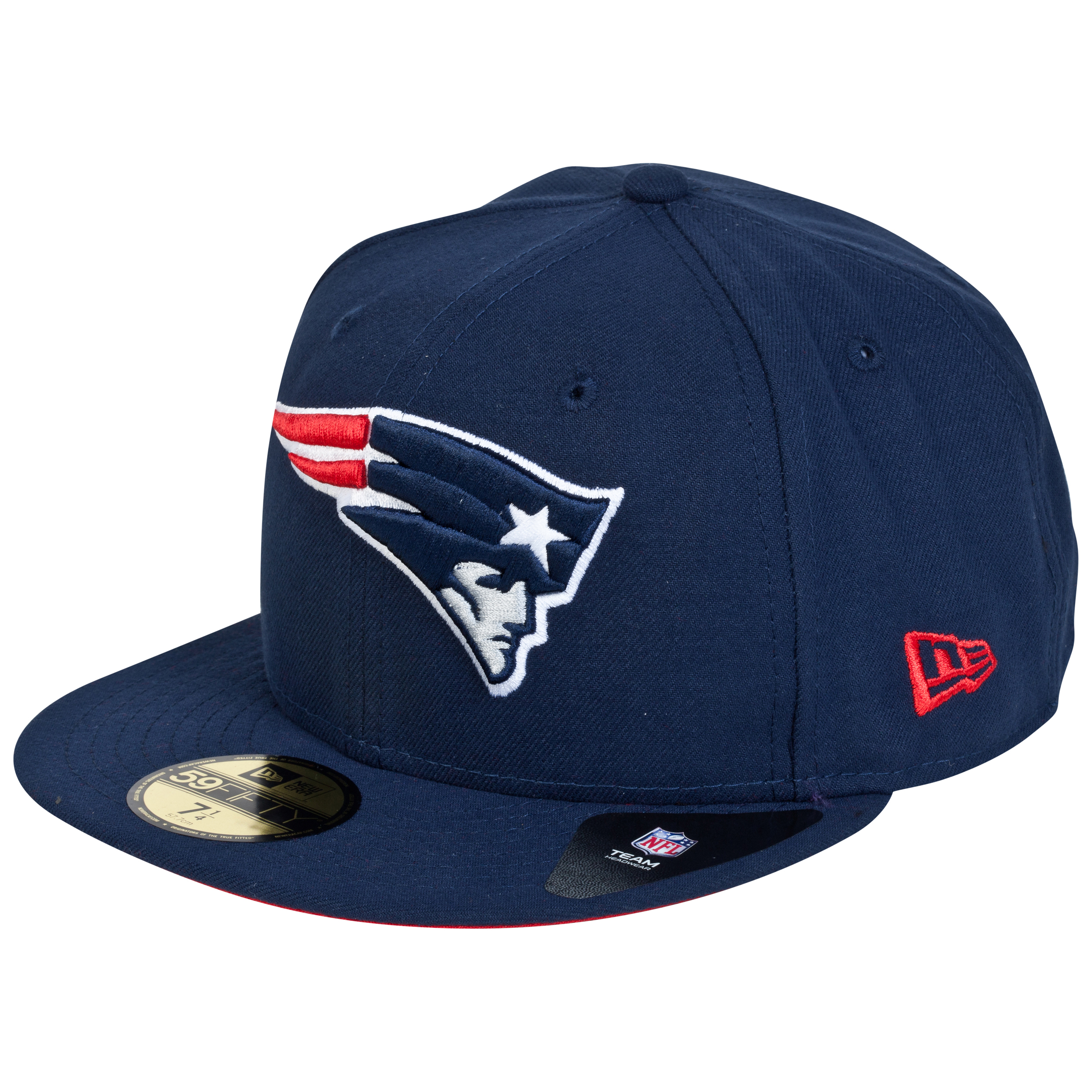 New England Patriots New Era 59FIFTY SB Side Patch Super Bowl XXXVI Fitted Cap