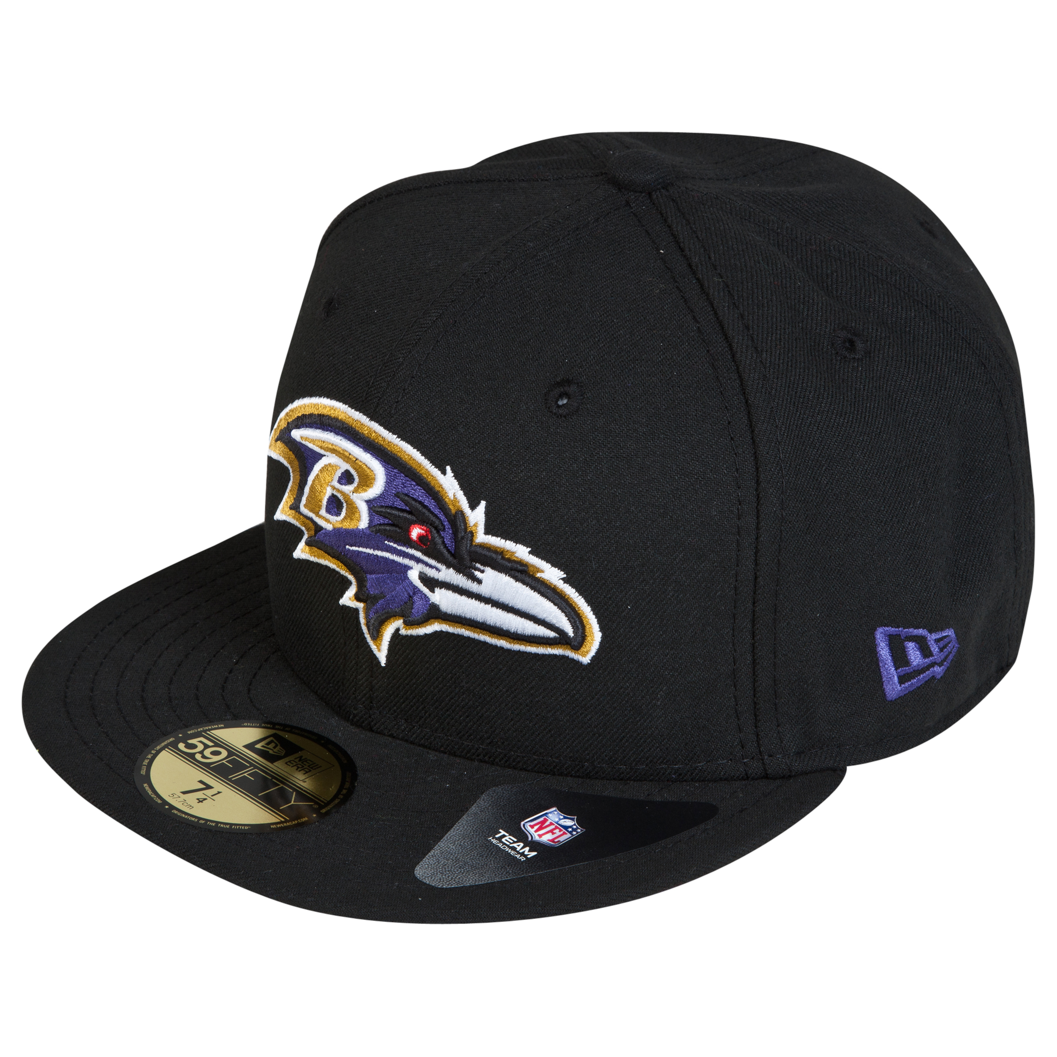 Baltimore Ravens New Era 59FIFTY SB Side Patch Super Bowl XXXV Fitted Cap