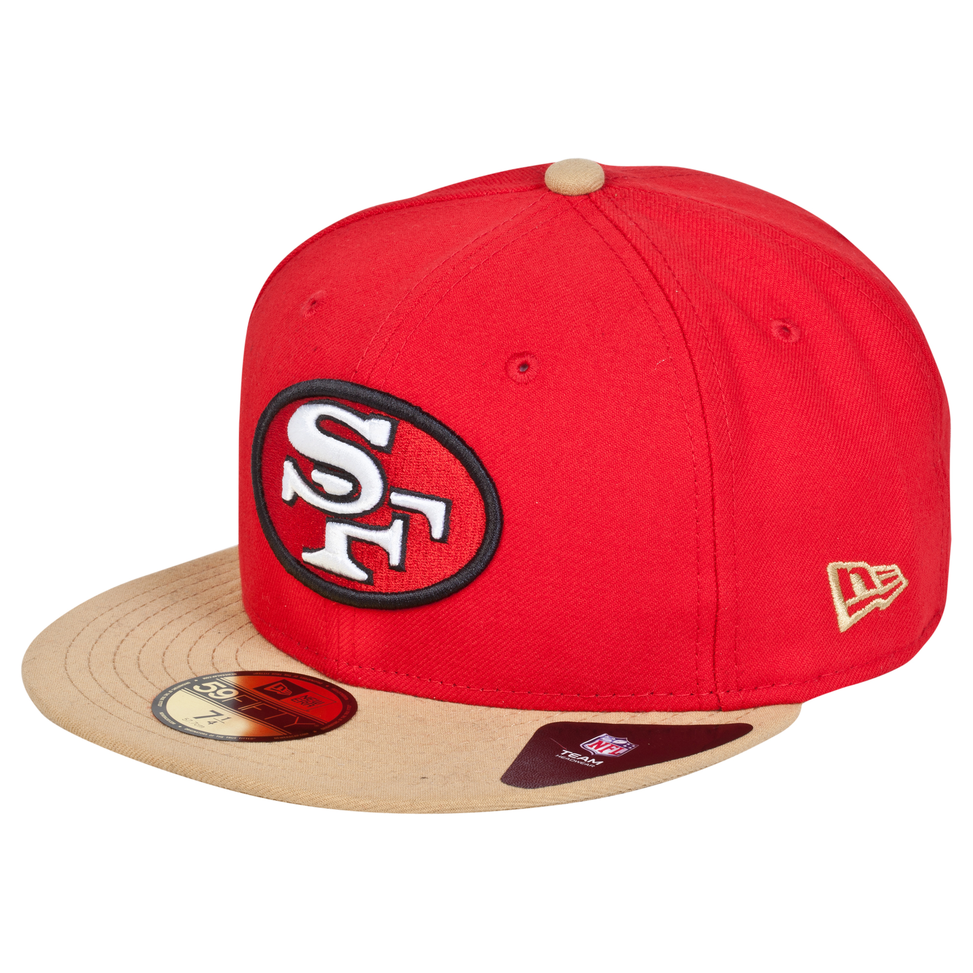 San Francisco 49ers New Era 59FIFTY SB Side Patch Super Bowl XVI Fitted Cap