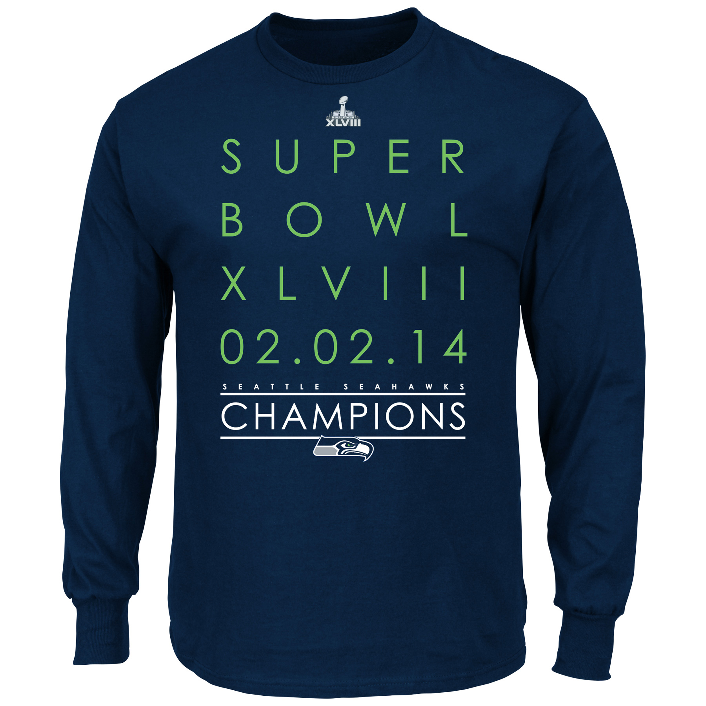 Seattle Seahawks Winners Take VI T-Shirt - Long Sleeve