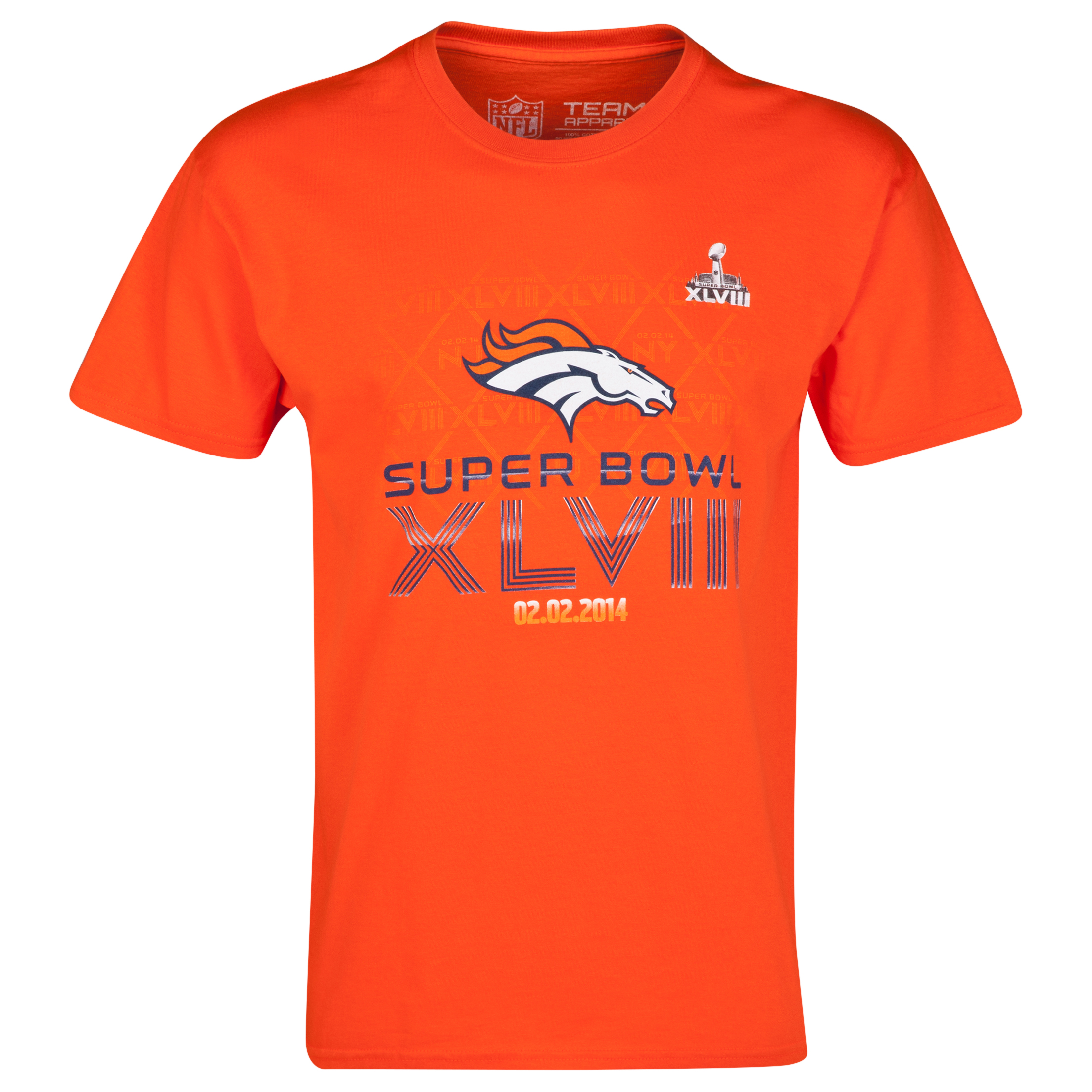 Denver Broncos Roster T-Shirt Orange
