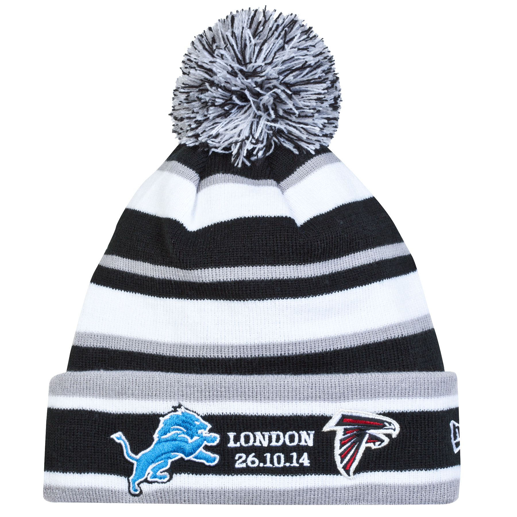 NFL International Series 2014 New Era Sport Knit Fleece Hat - Lions - Falcons