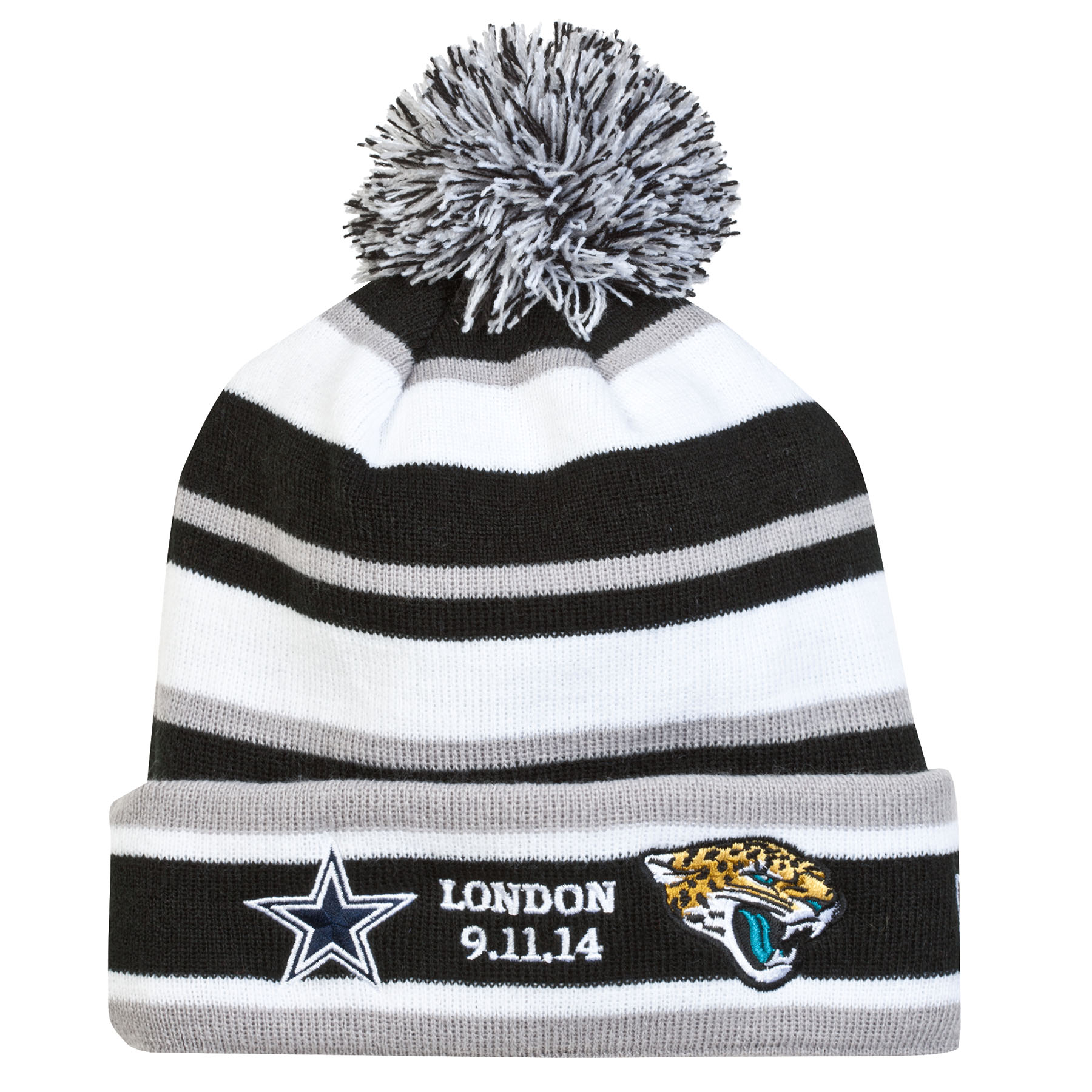NFL International Series Game 11 New Era Sport Knit Fleece Hat - Cowboys - Jaguars