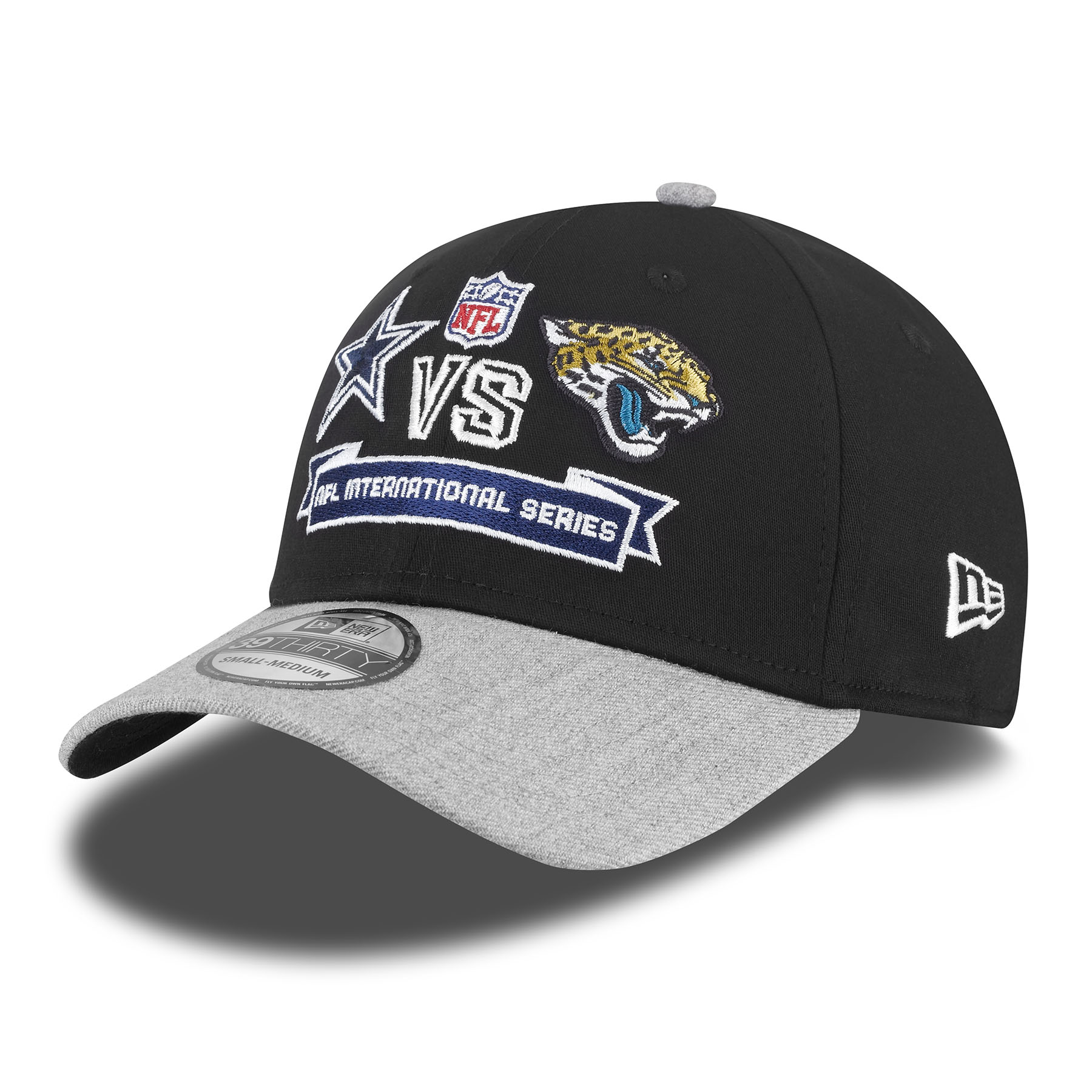 NFL International Series Game 11 New Era 39THIRTY Team Contrast Cap - Cowboys - Jaguars