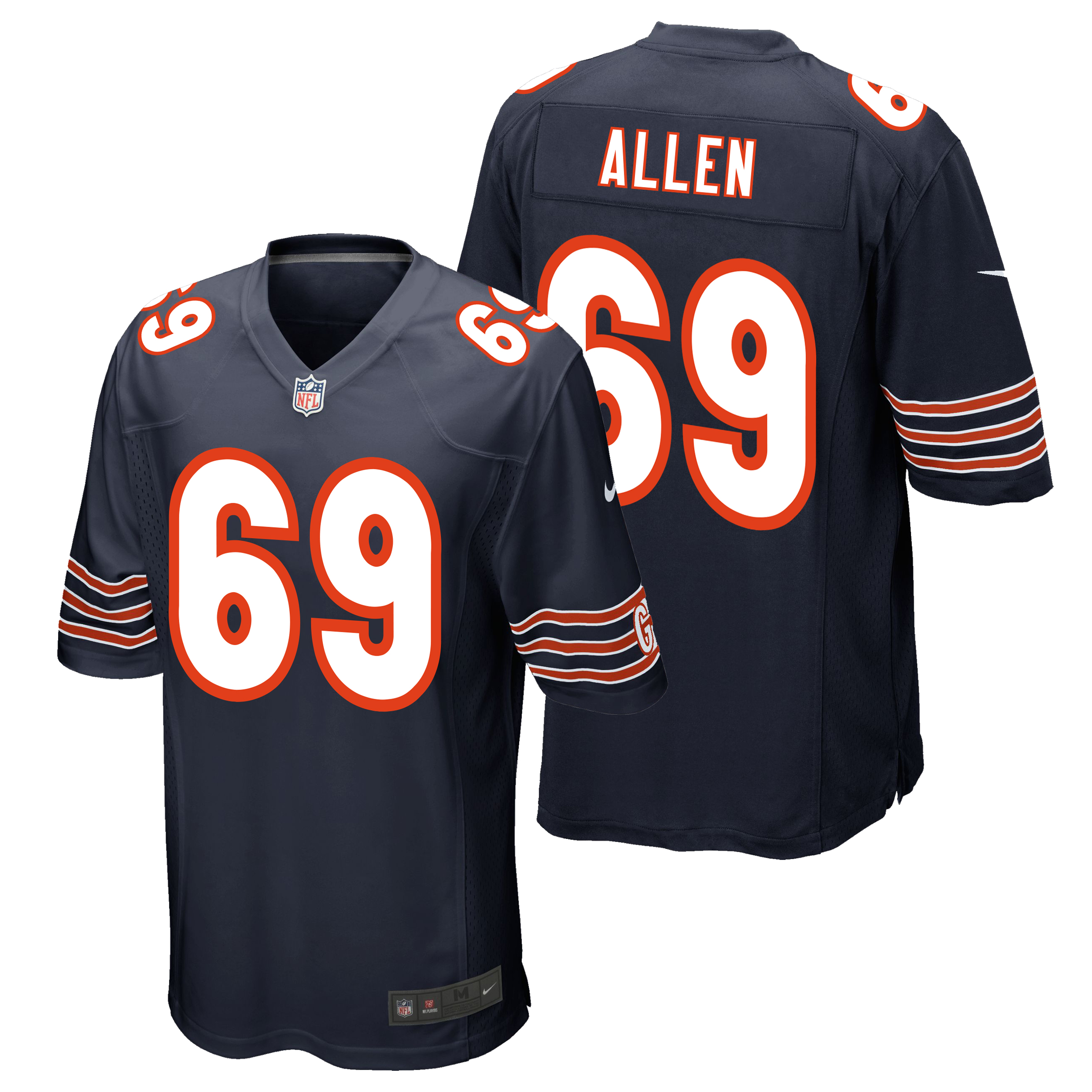 Chicago Bears Home Game Jersey - Jared Allen