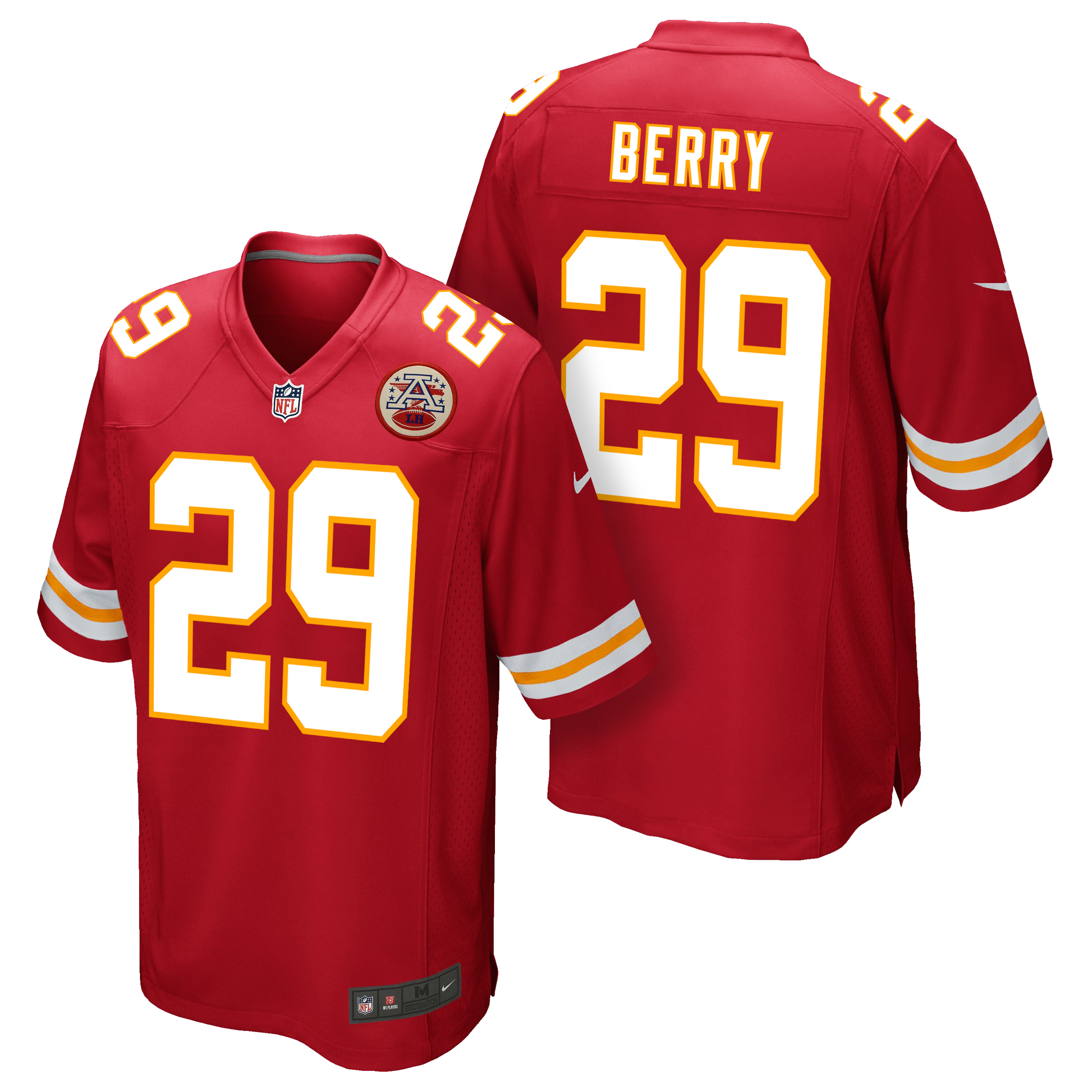 Kansas City Chiefs Home Game Jersey - Eric Berry